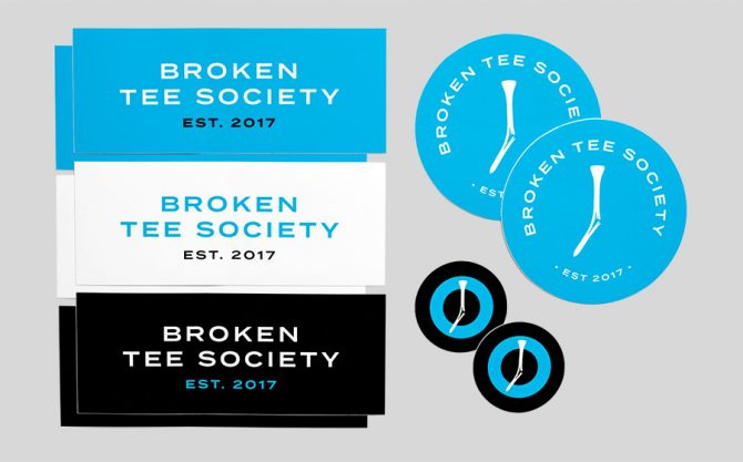 Broken Tee Society Sticker Pack