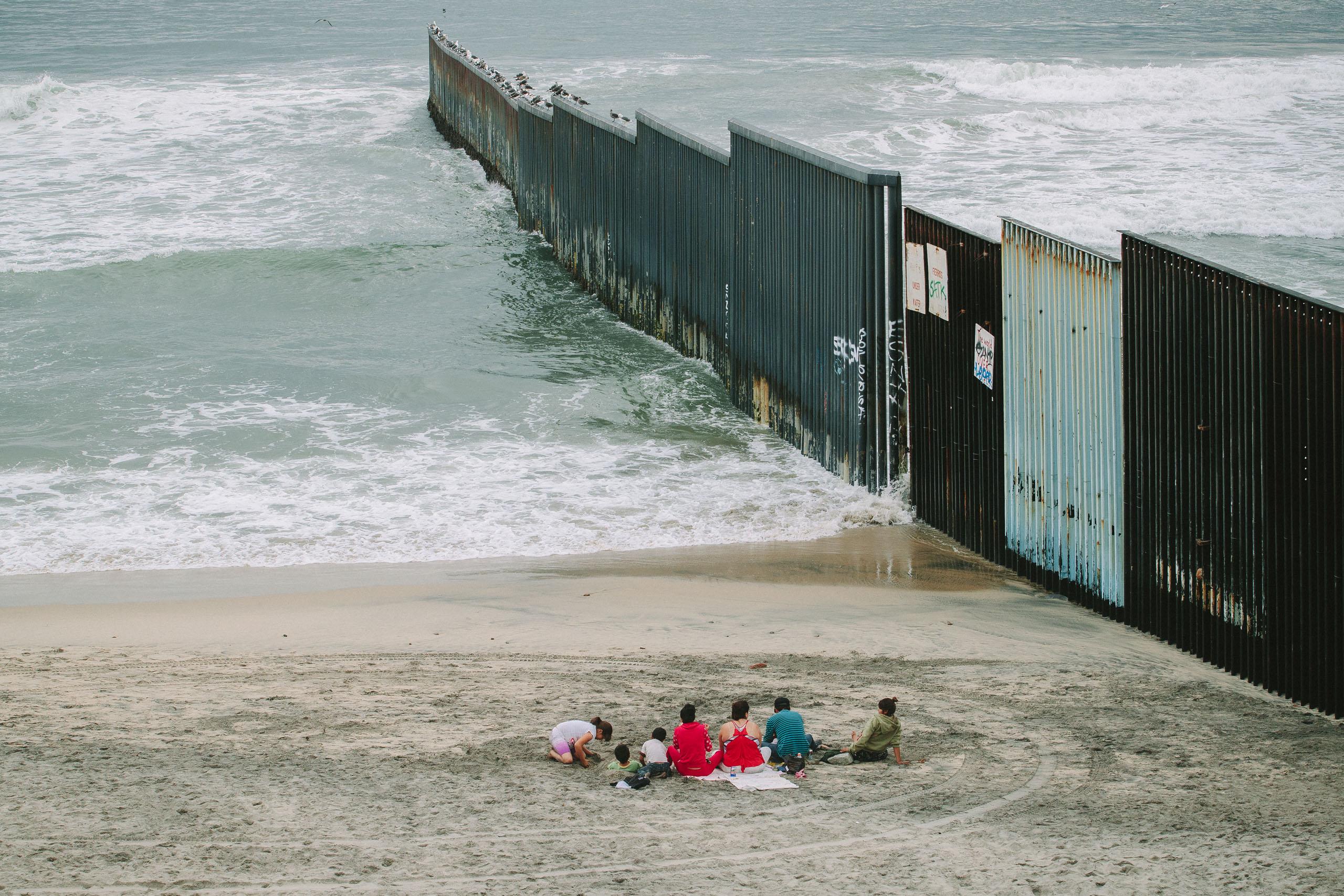US-Mexico Border extends into ocean