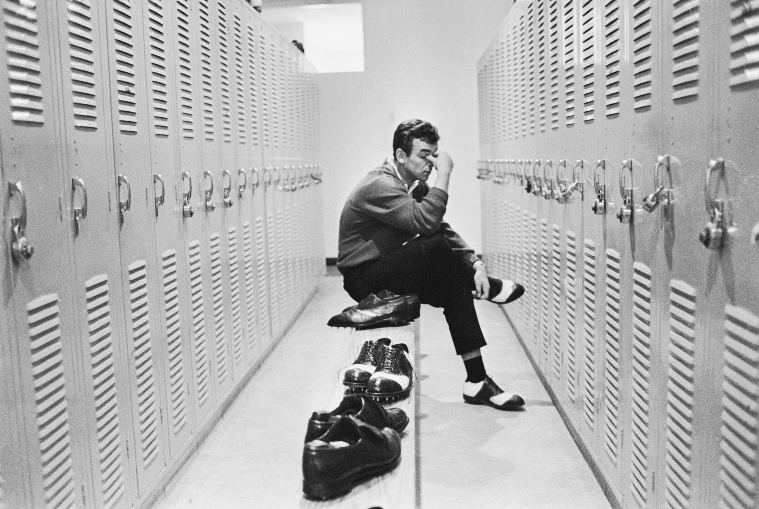 Tony Jacklin in a locker room during the Florida Citrus Open at Rio Pinar Country Club, Orlando, Florida