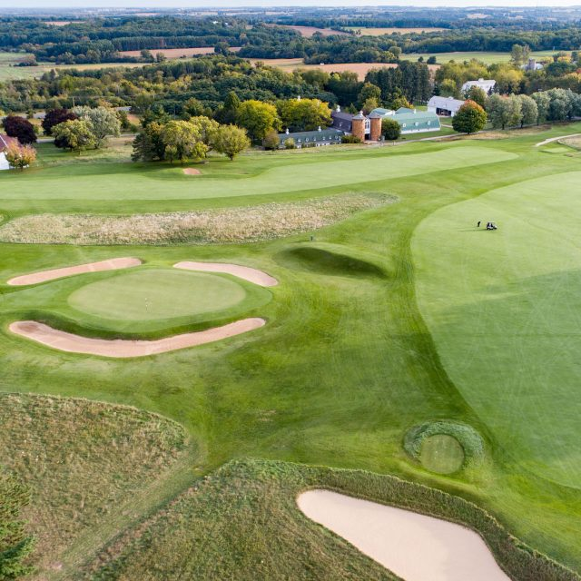 A prime example of triangulation on full display at Lawsonia Links in Wisconsin