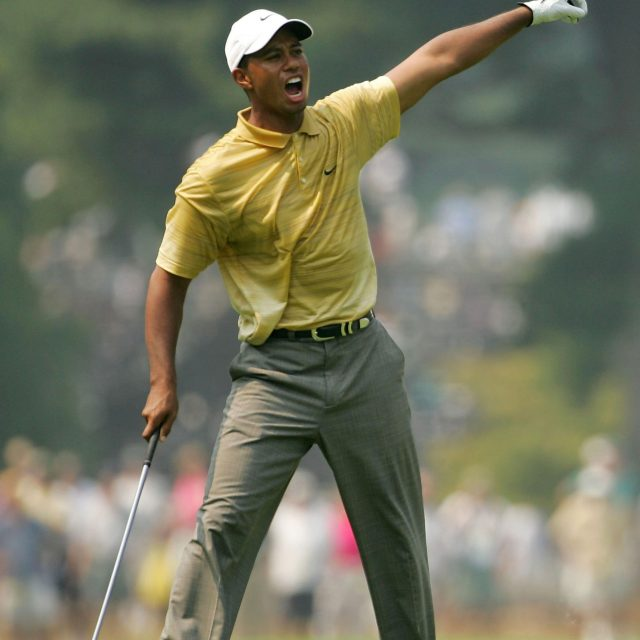 Tiger Woods Yelling Fore