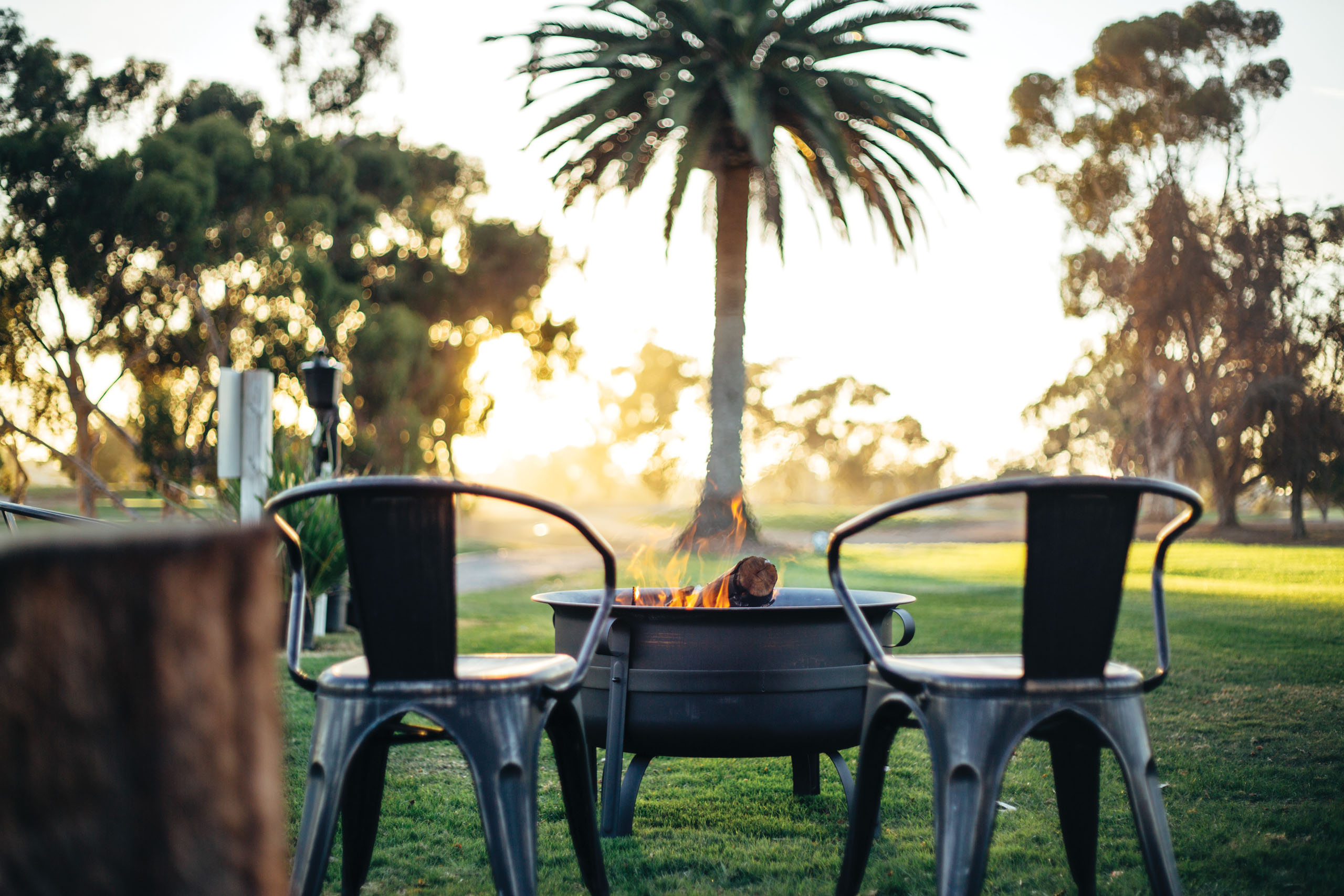 Firepit at golf course