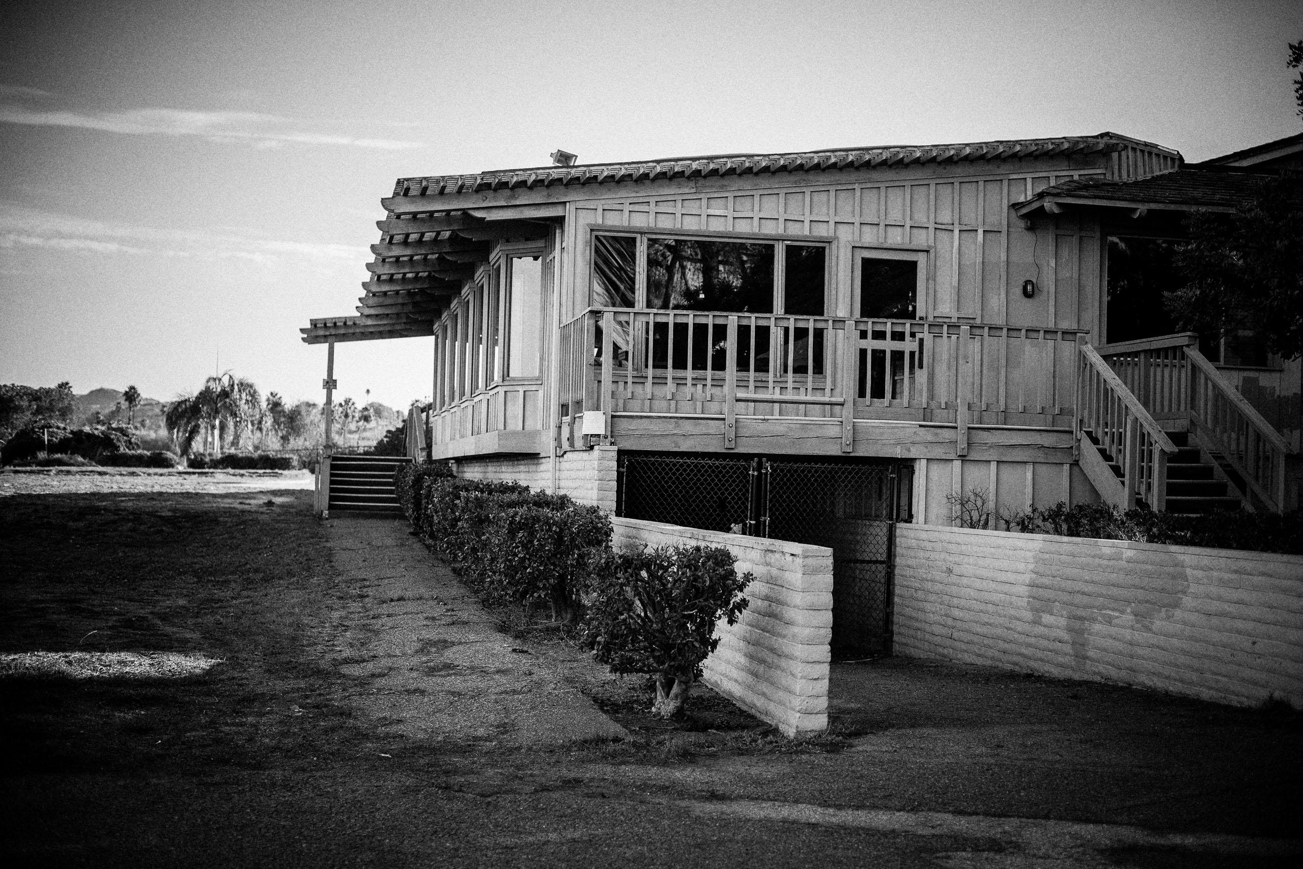abandoned golf club house