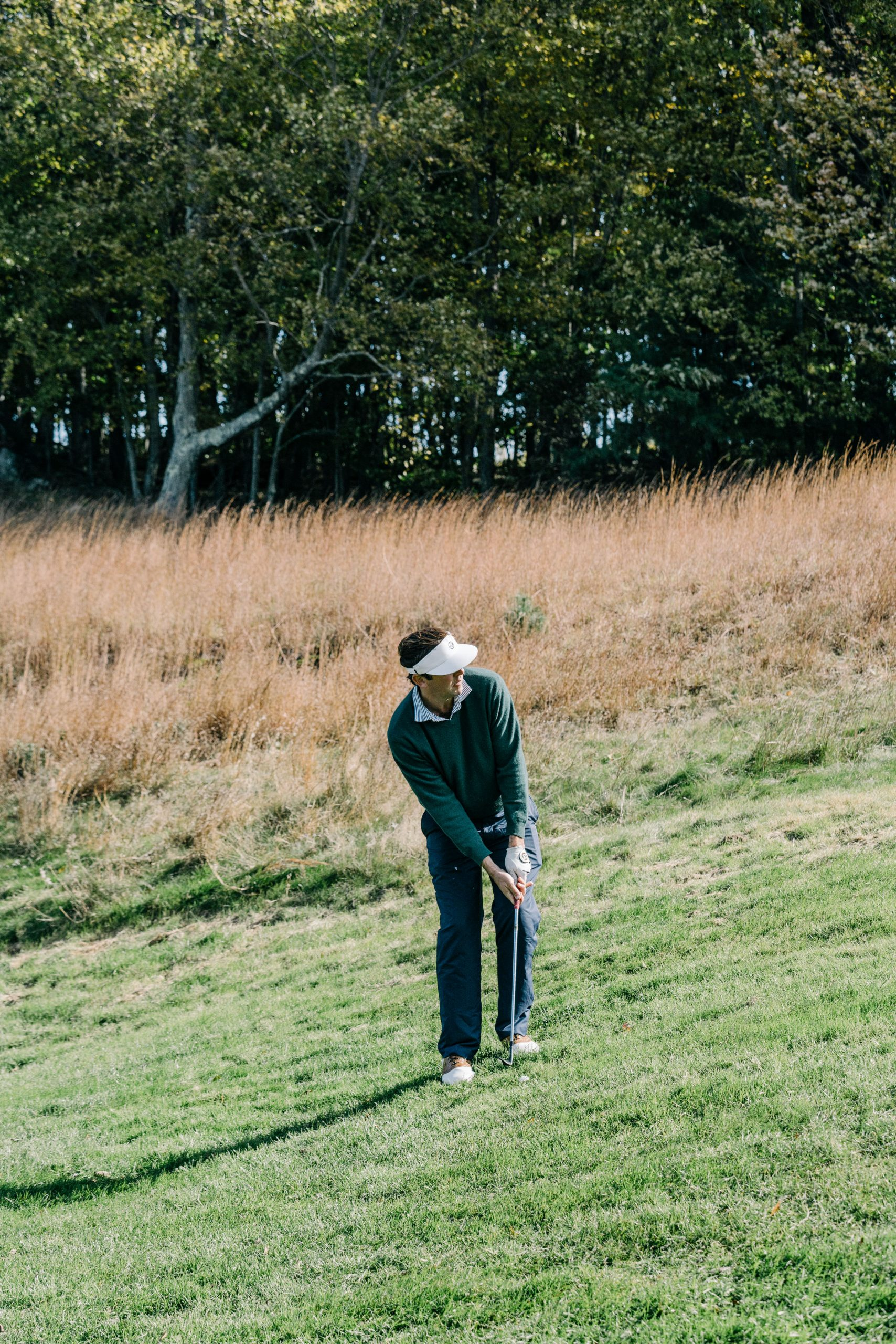 Colin Sheehan on the course at the Punchbowl at Yale