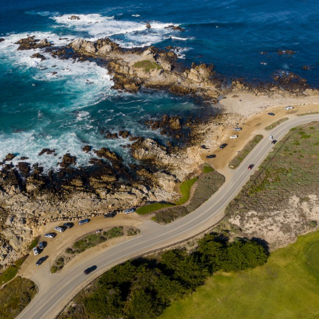 Aerial Image of Pacific Grove Golf Links Hole 12