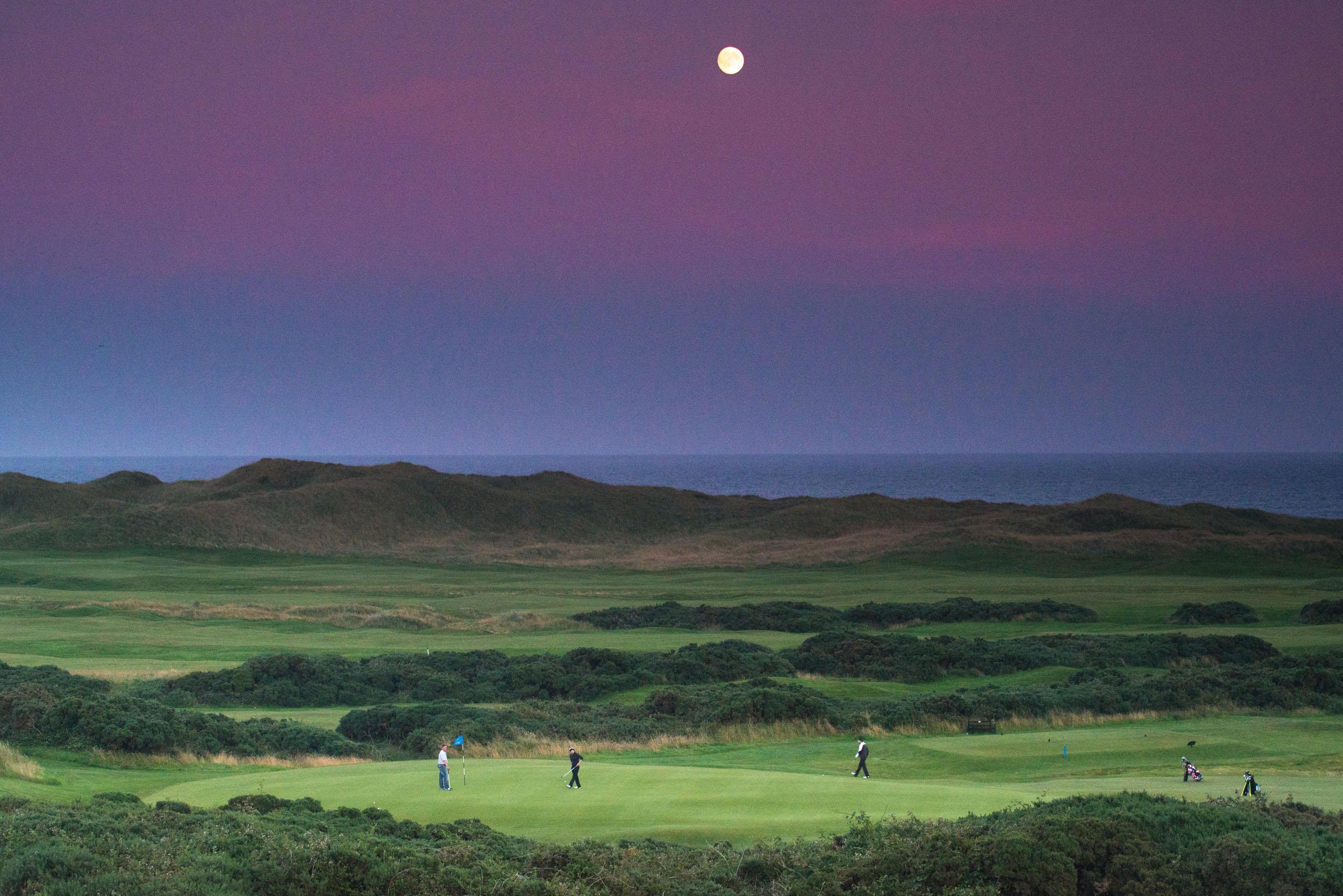 Cruden Bay Moon. Photo by Kevin Markham
