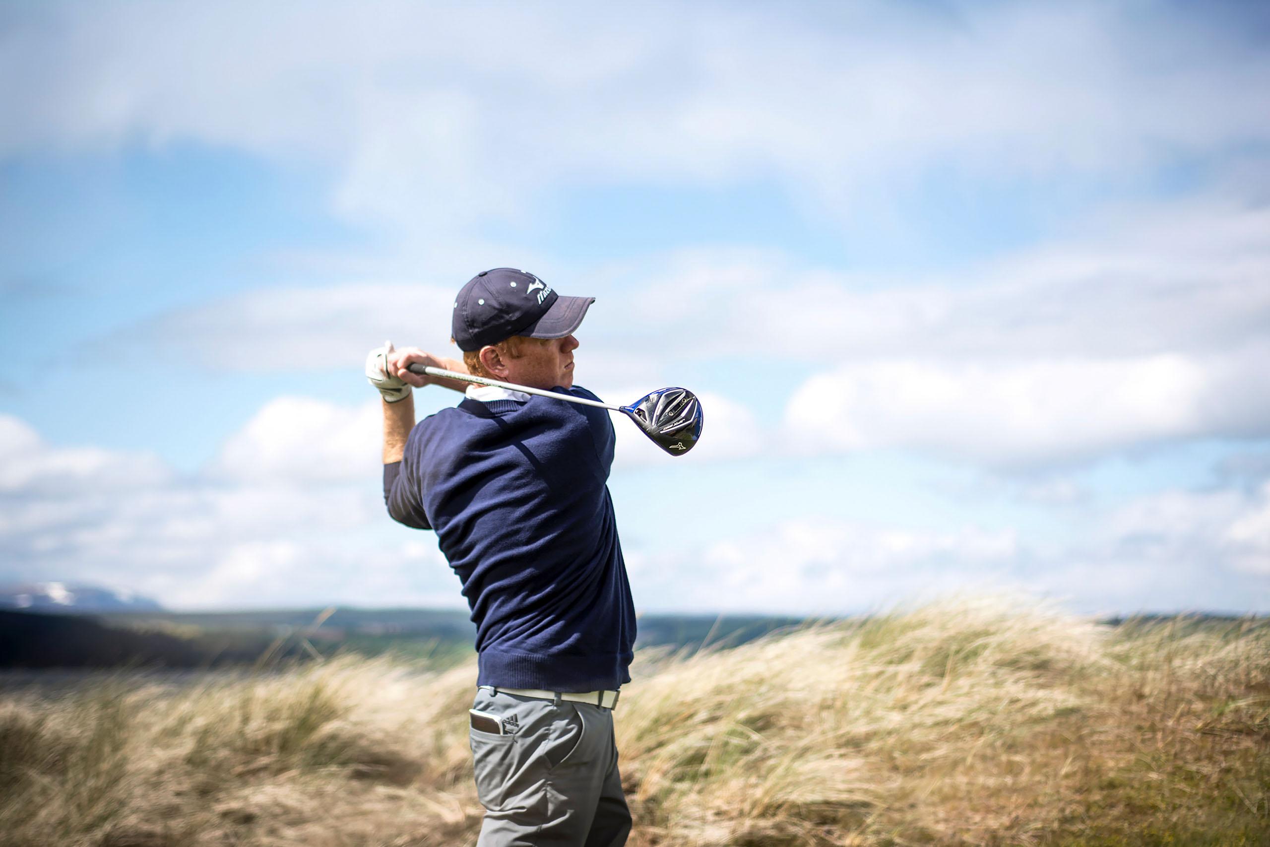 Tom Coyne Swinging a club. Photo Courtesy of Tom Coyne.