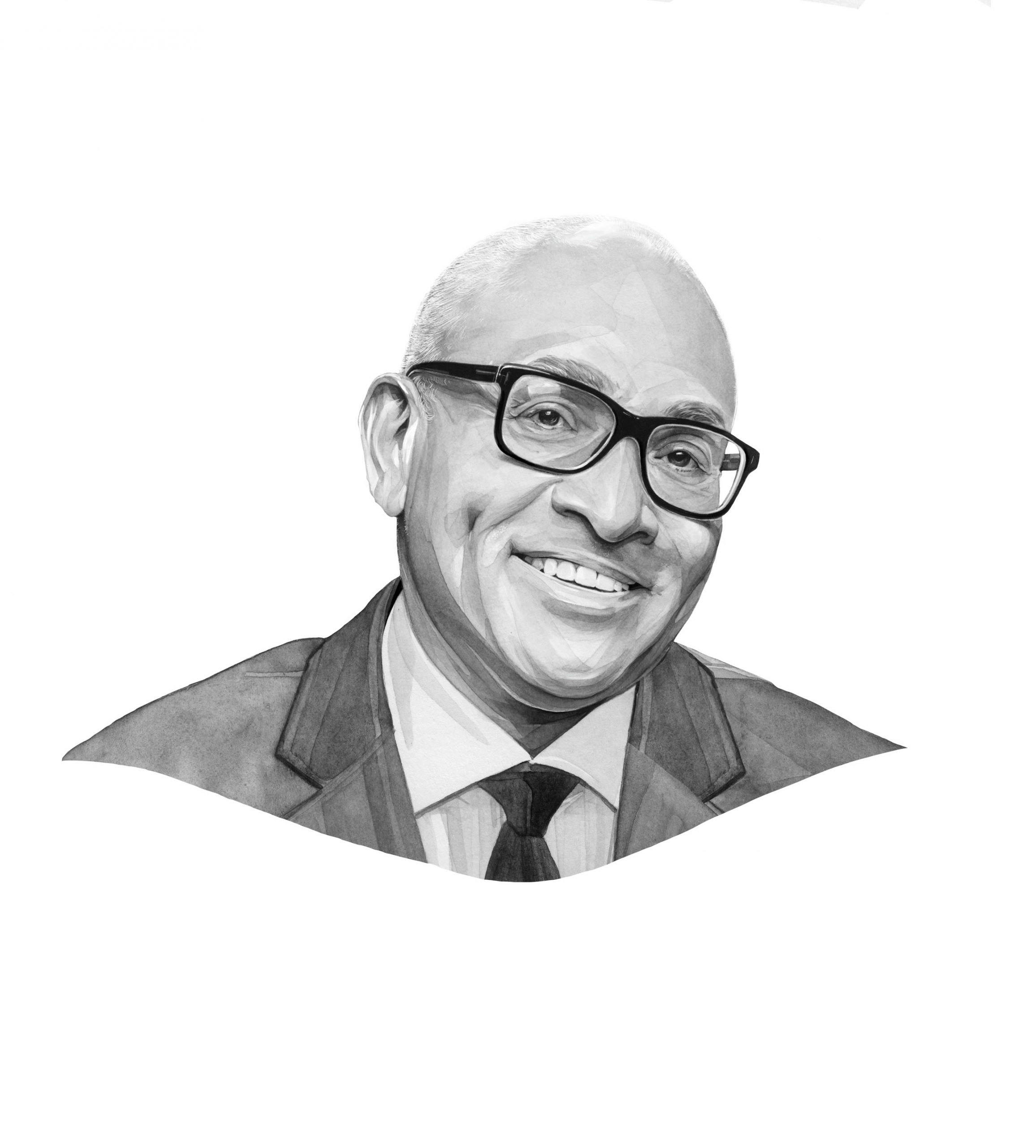 Larry Wilmore. Illustration by Kate Copeland