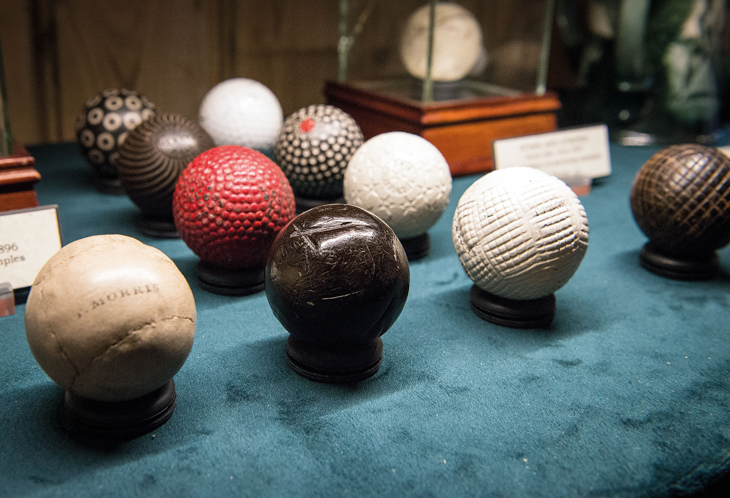 Early golf balls telling a story