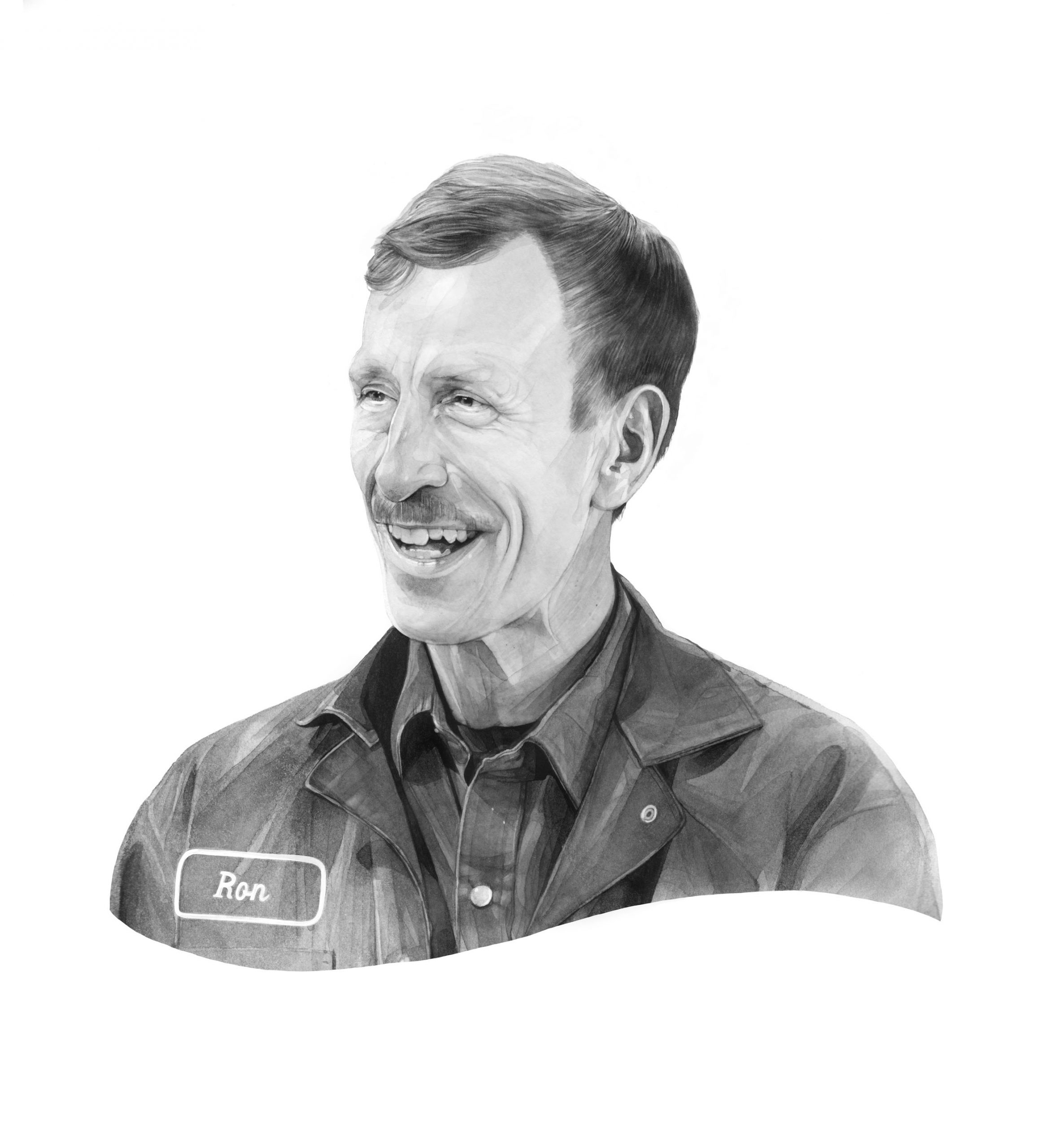 illustration of Ron Weeks by Kate Copeland