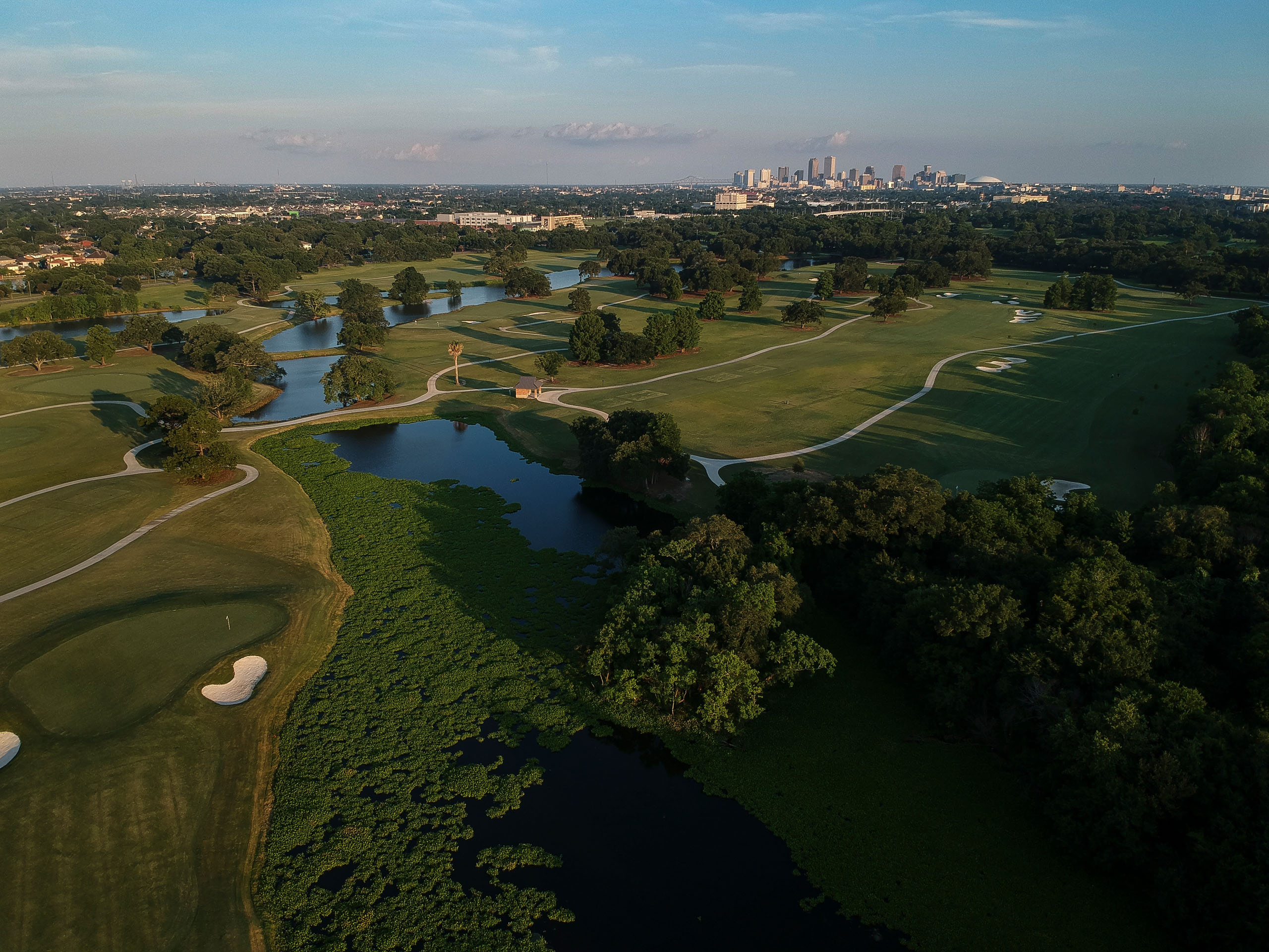 Proximity to downtown is one of the biggest assets of the Bayou Oaks Course at City Park. The locals say that when the popular New Orleans Jazz Fest is in full swing, they can hear the music from the course. Photo by Ryan Young