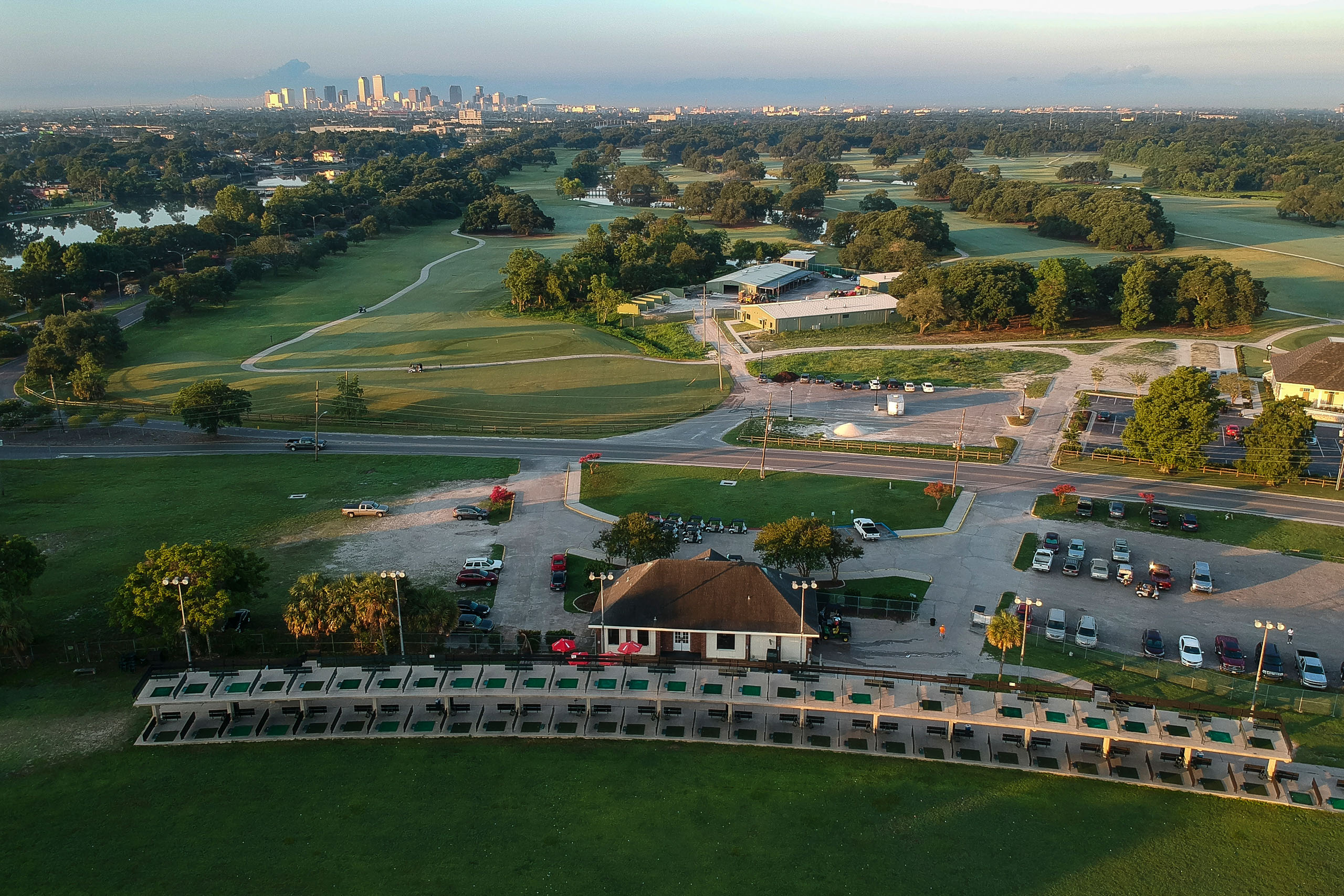 The double-decker driving range at City Park. Photo by Ryan Young