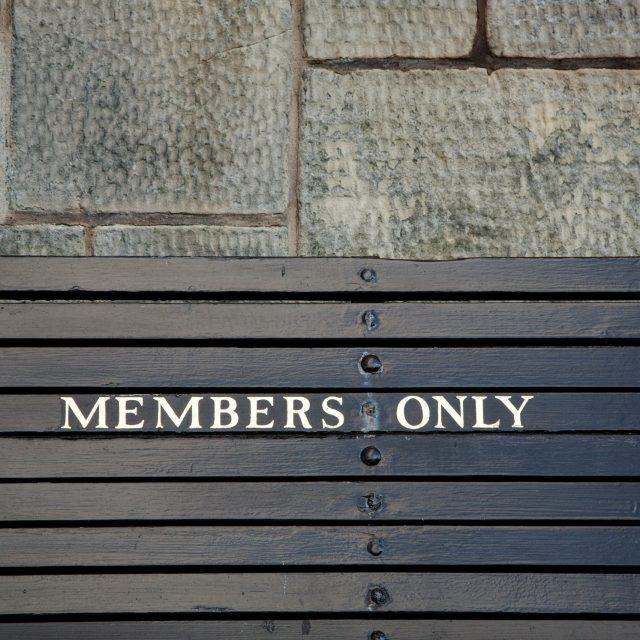 Members Only Bench Royal and Ancient Golf Club St Andrews Fife Scotland