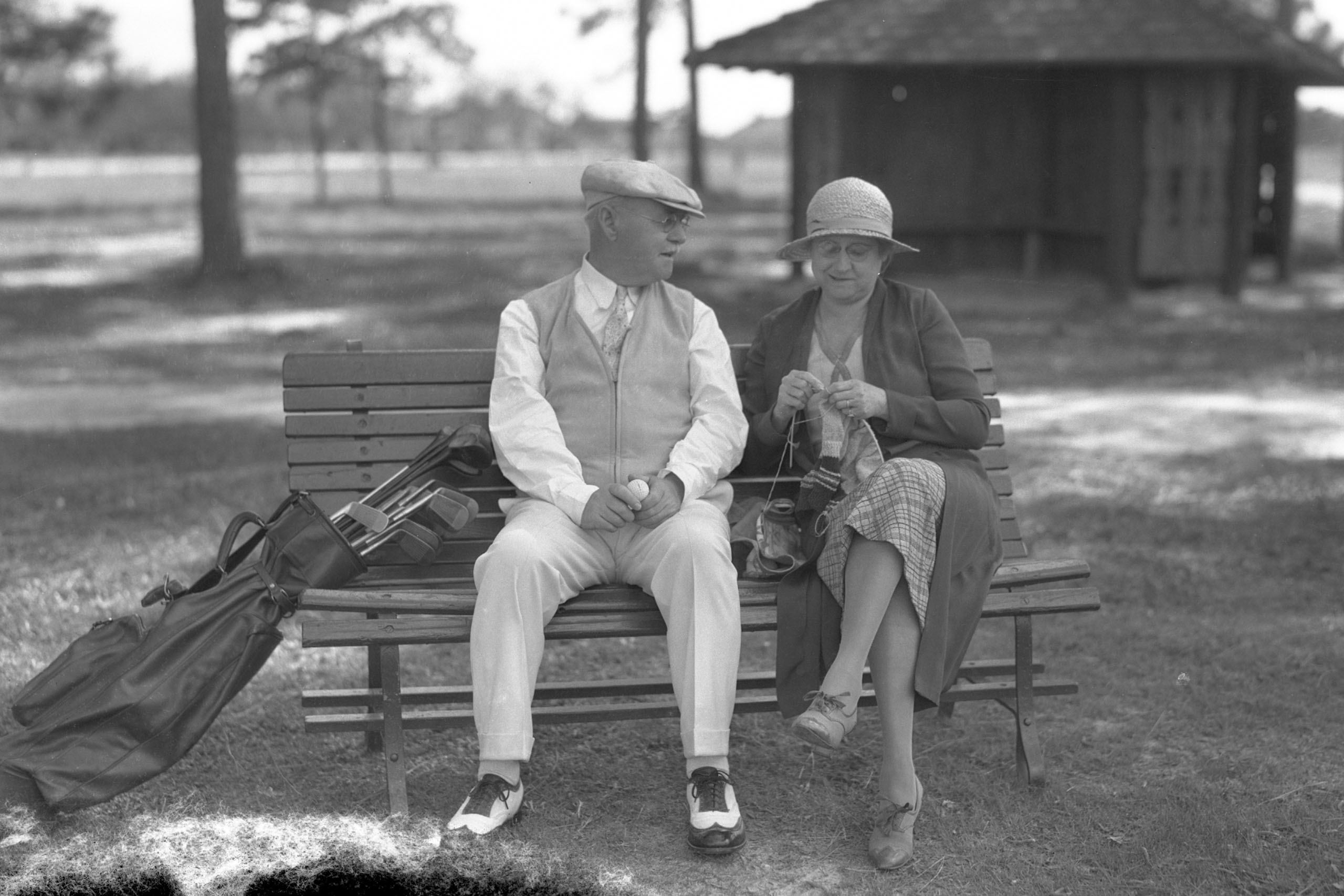 Many architects parachute into a location to design a course, then leave. Not Donald Ross—he and his wife, Florence Blackington, settled in the Pinehurst area and became part of the community. Ross developed land for housing and even became the town's golfsmith. Photo Courtesy of the Tuft Archives