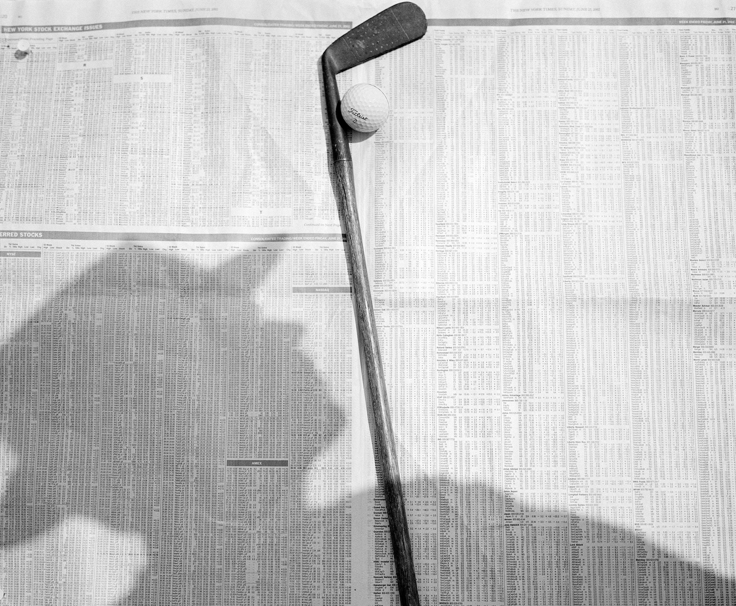 Golf club and shadow, Manhattan Woods, Nyack, New York, 2002