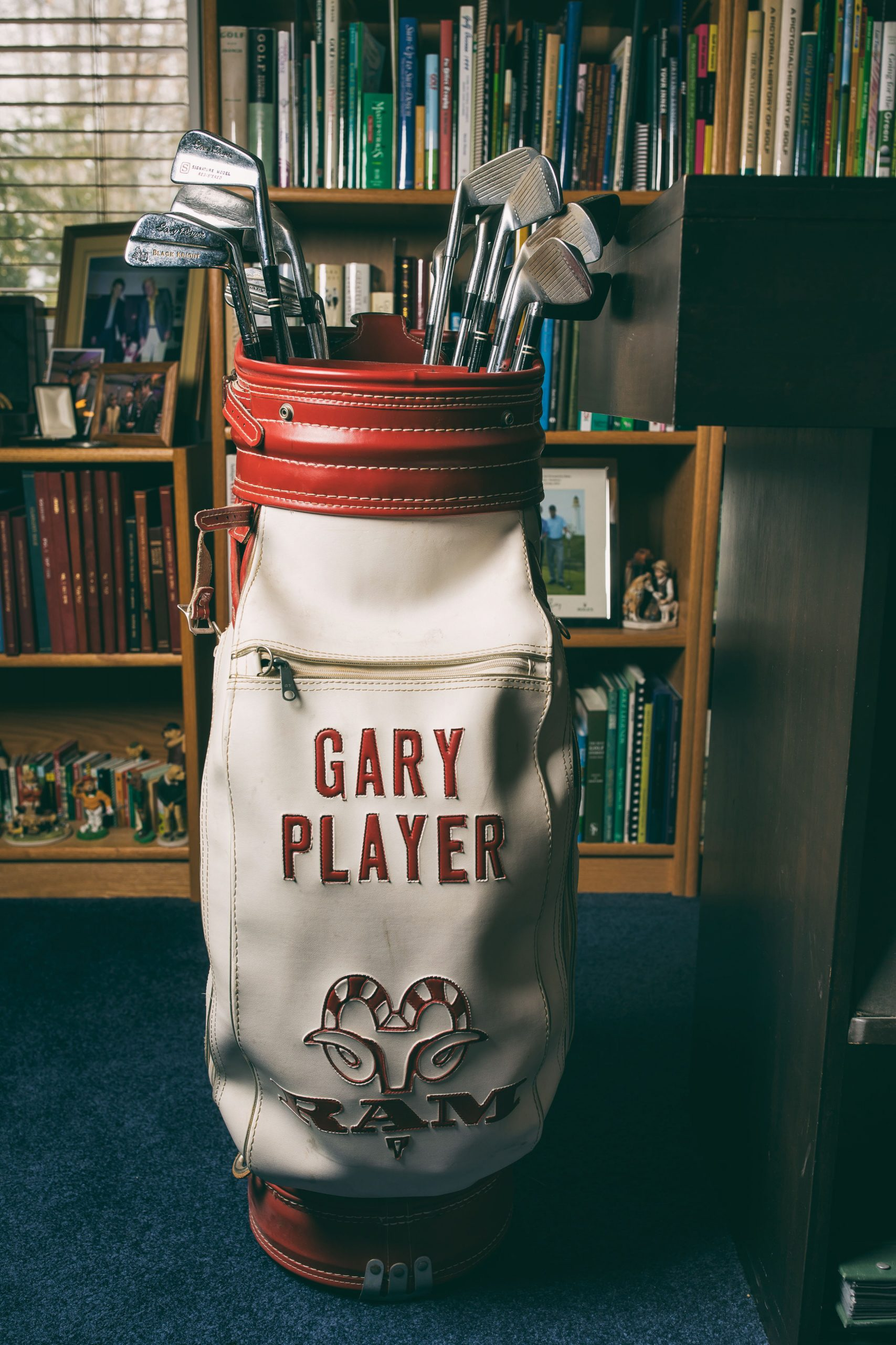 Gary Player's Staff Bag. Photo by Todd Rosenberg .