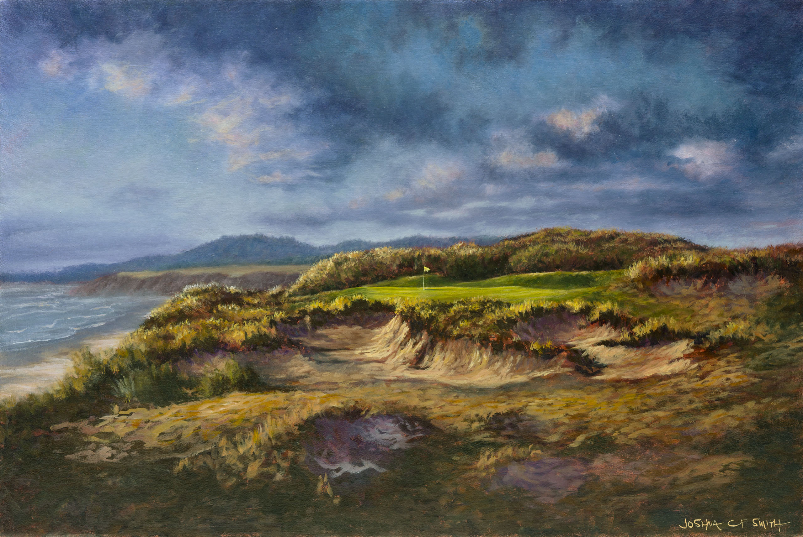 Pacific Dunes, painting