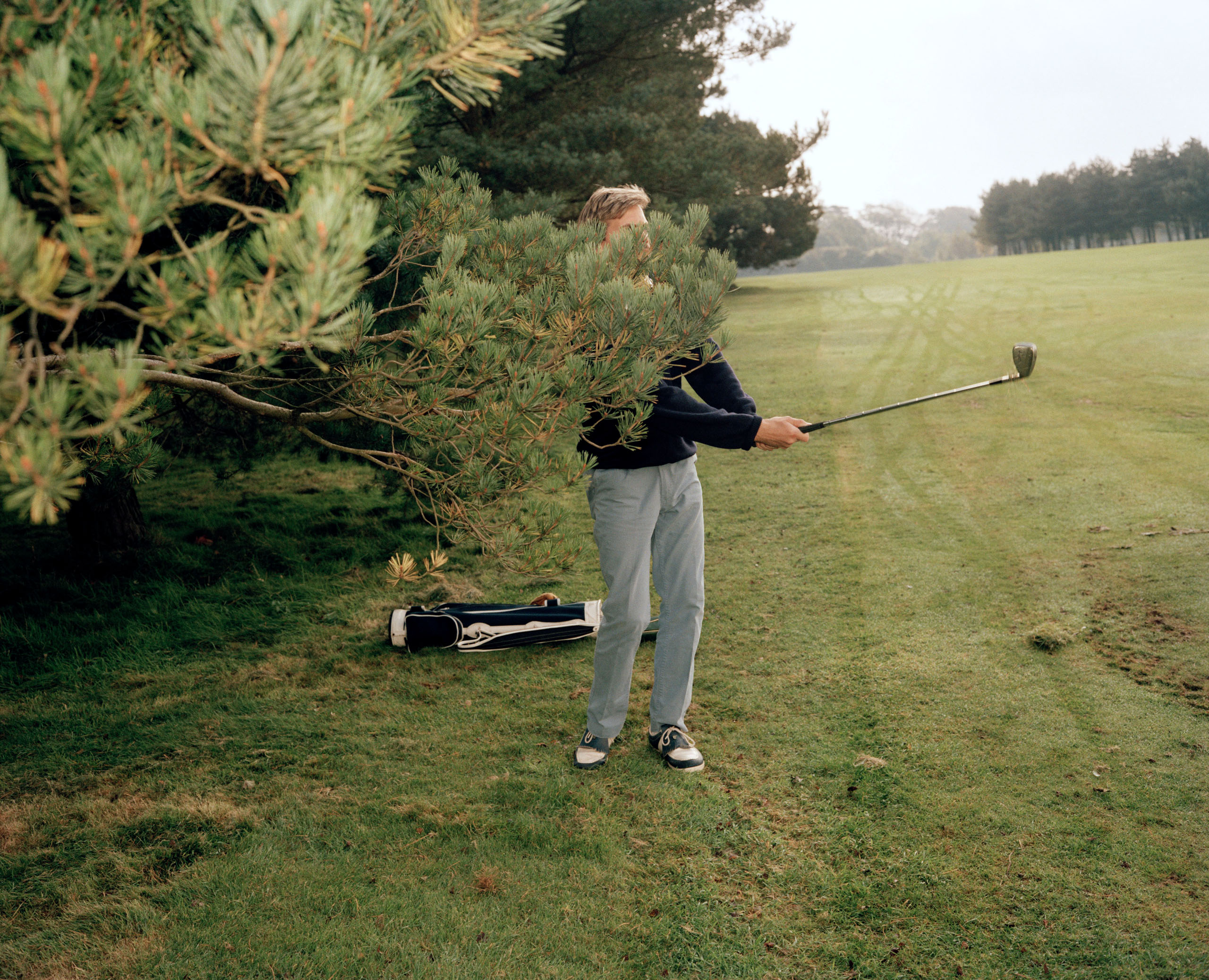 Getting Out Of Jail At England's Bristol & Clifton Golf Club In 1988. Photo by Martin Parr