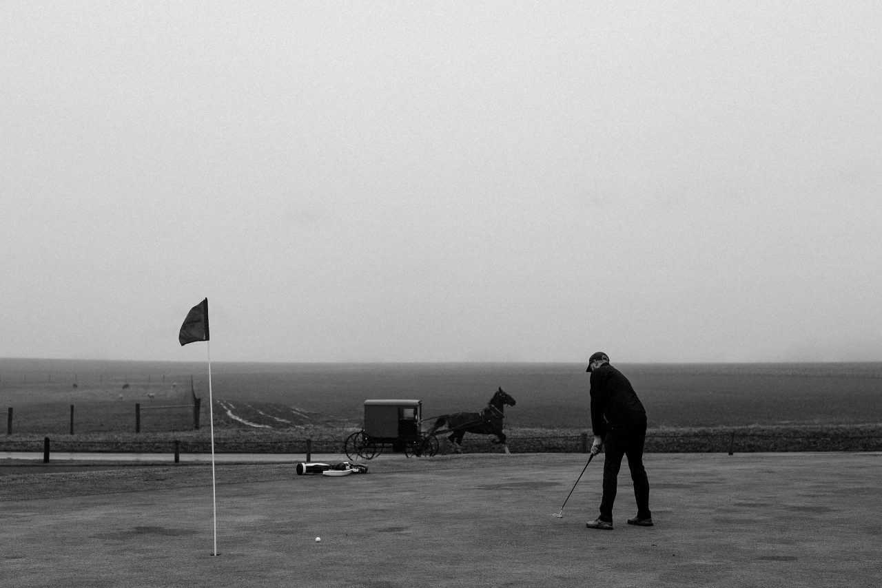 amish golf. Photo: Christian Hafer