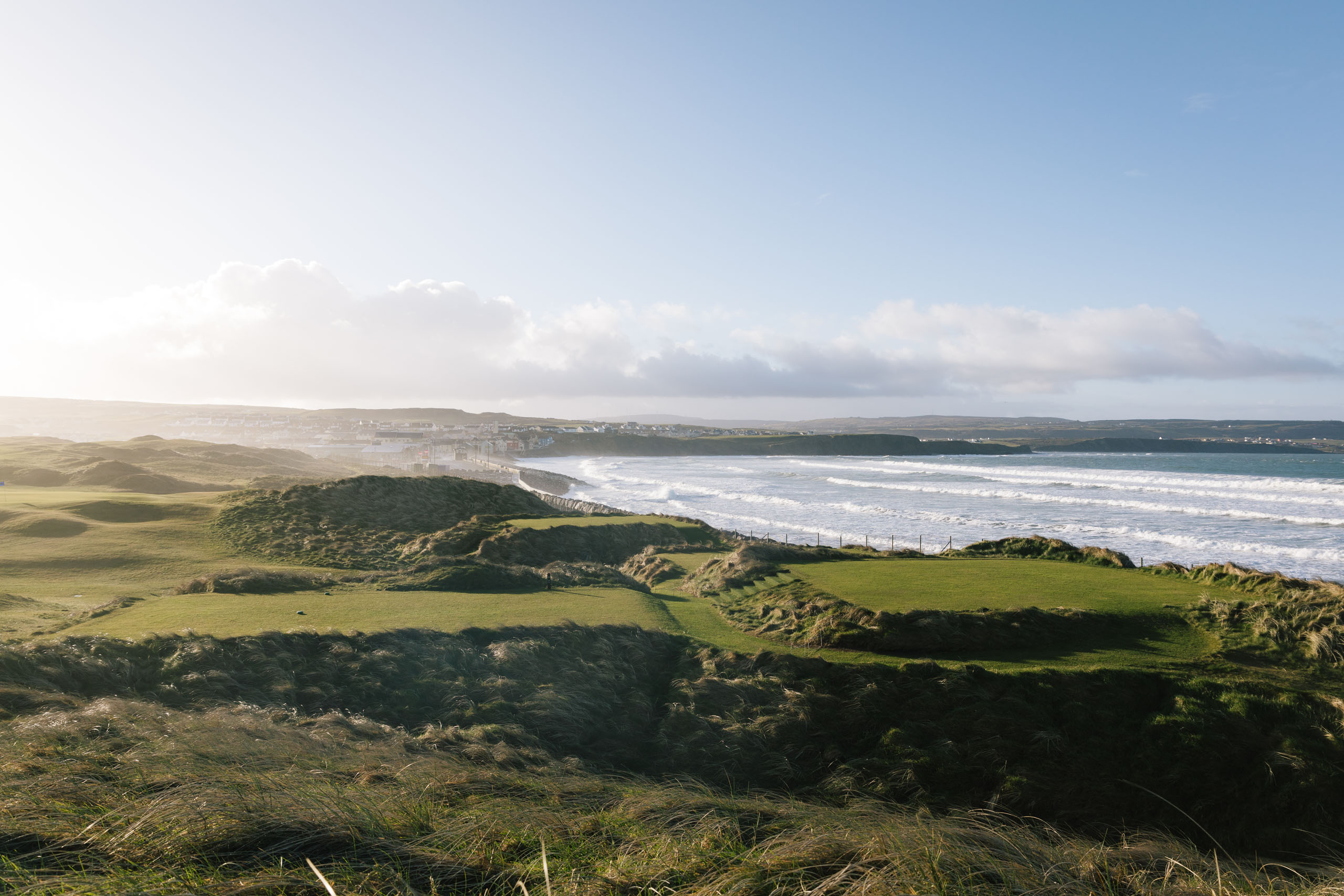 LAHINCH, IRELAND. MARCH 22, 2018;  Views of the 4th hole at Lahinch golf course, on March 22nd, 2017 in Lahinch, Ireland. Photo by Tom Shaw.