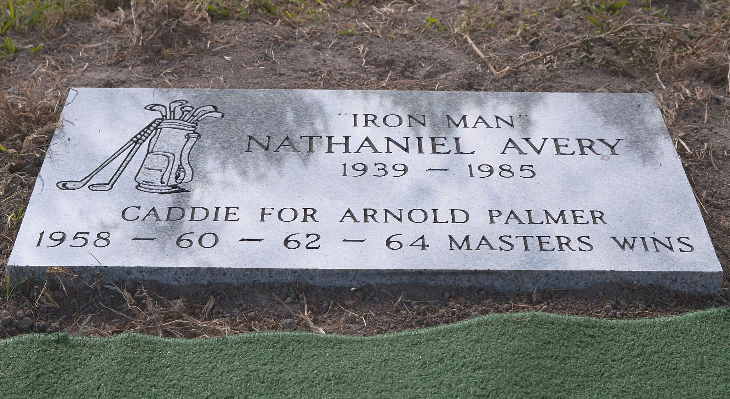 "Nathaniel ""Iron Man"" Avery's gravestone"
