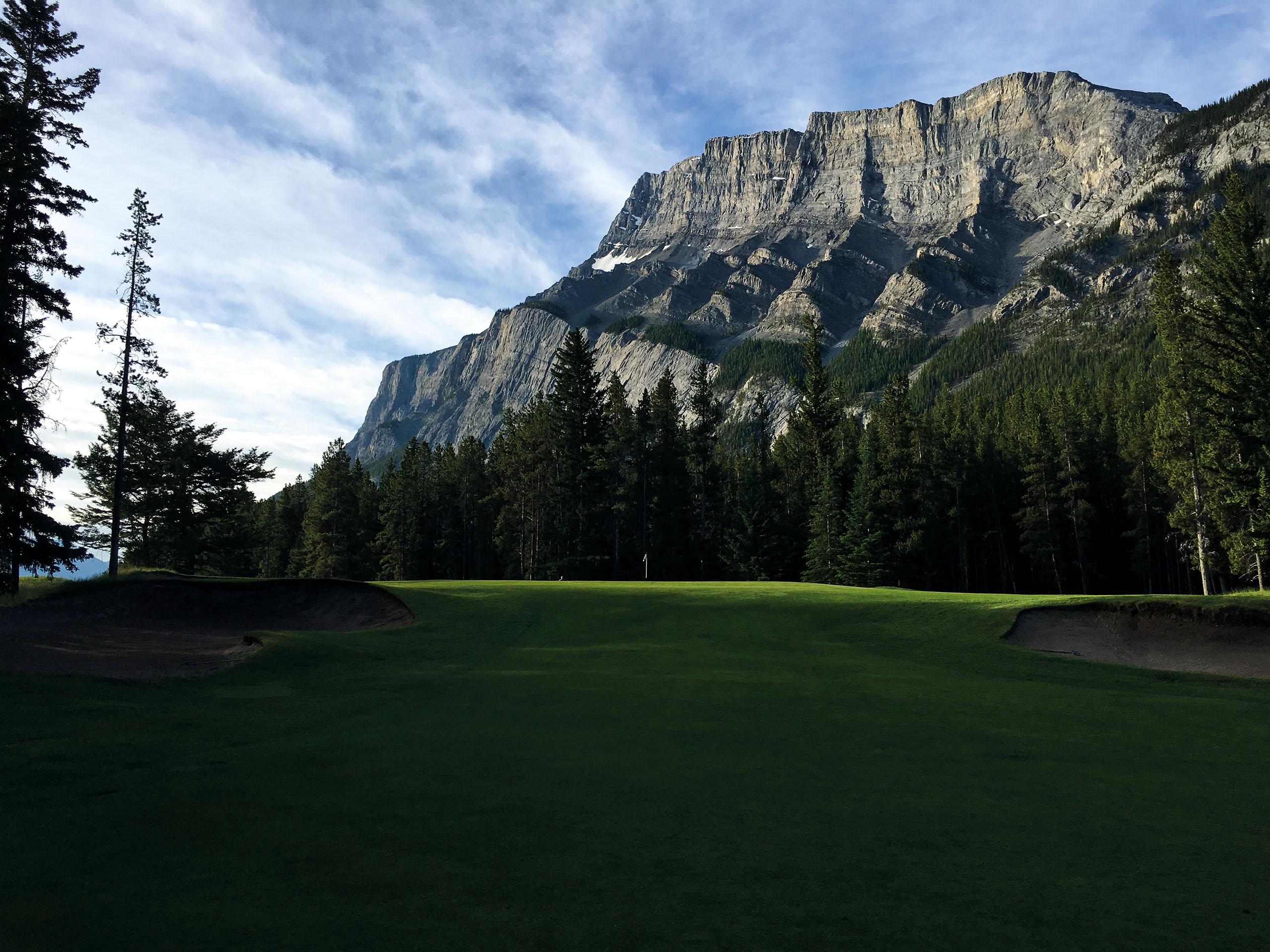 The view at what is now the second hole at Banff Springs. The par 3 was No. 5 in the Donald Ross routing and No. 6 in the Stanley Thompson routing. Photo by Riley Johns