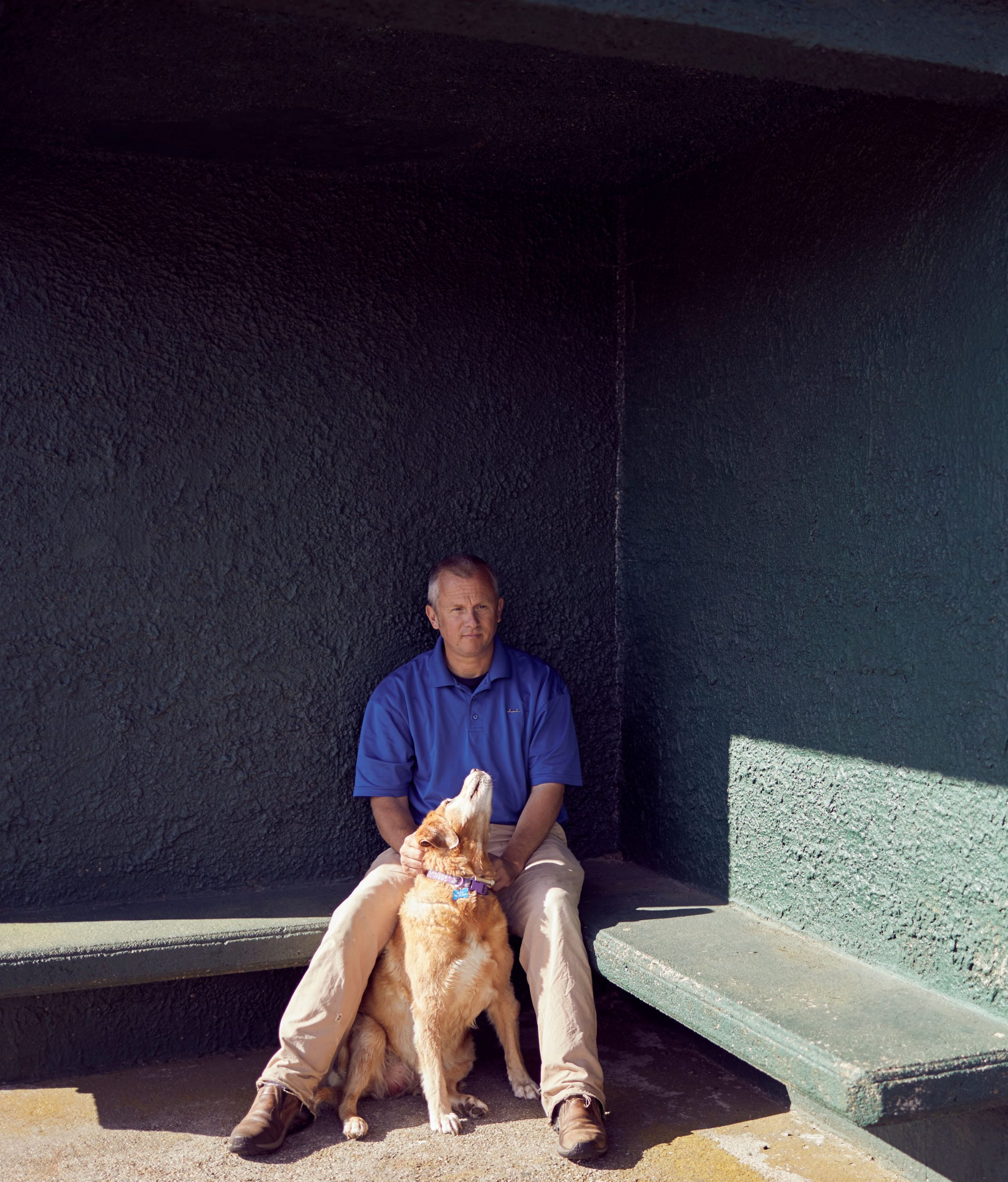 For the last 17 years, Russell Heller, known to the locals as Russ, has been the superintendent at William J. Devine Memorial Golf Course at Franklin Park, known to the locals as Franklin Park. The locals also know his faithful sidekick, Gisele. Photo by John Huet
