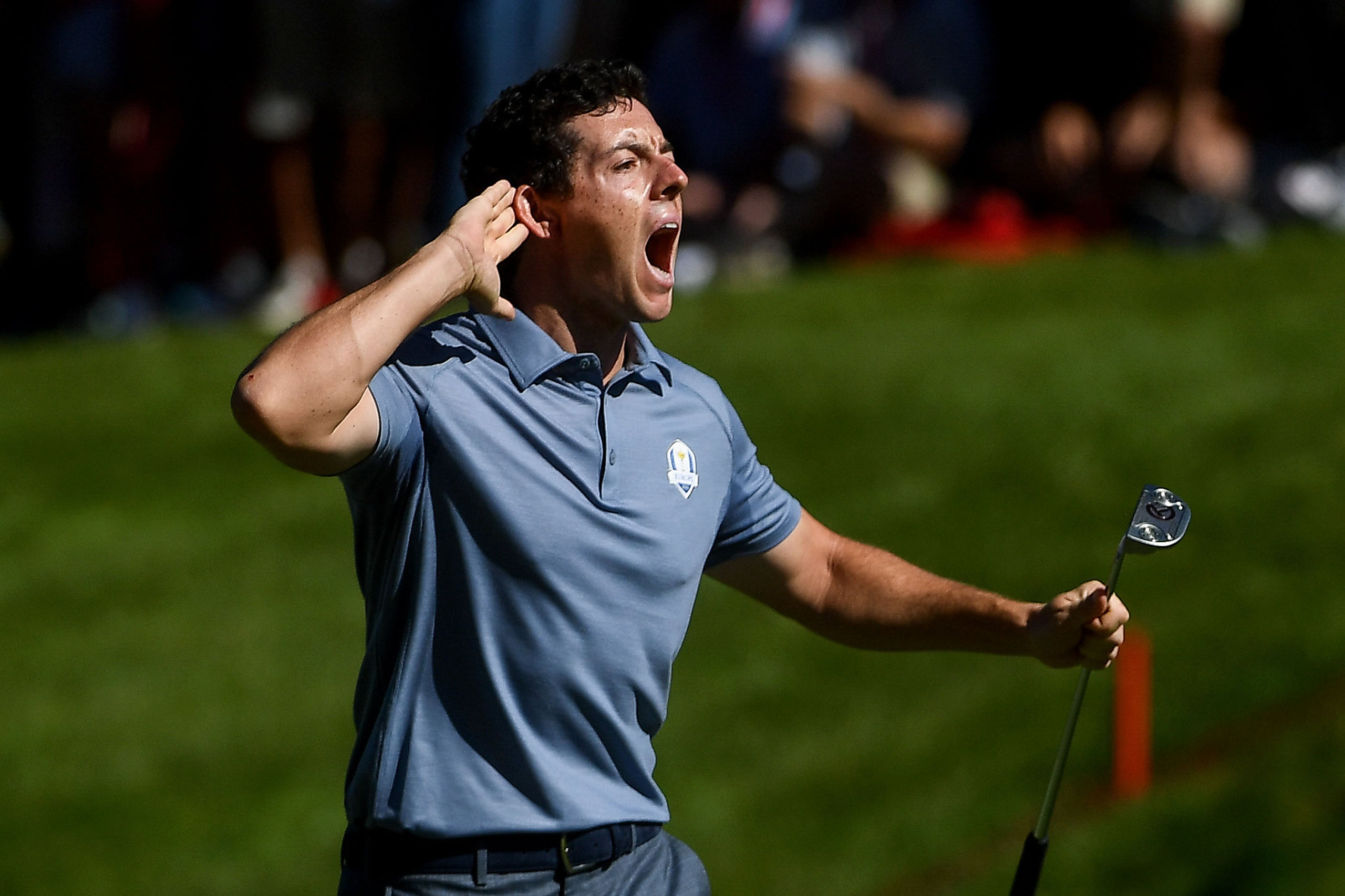 McIlroy at the raucous 2016 Ryder Cup