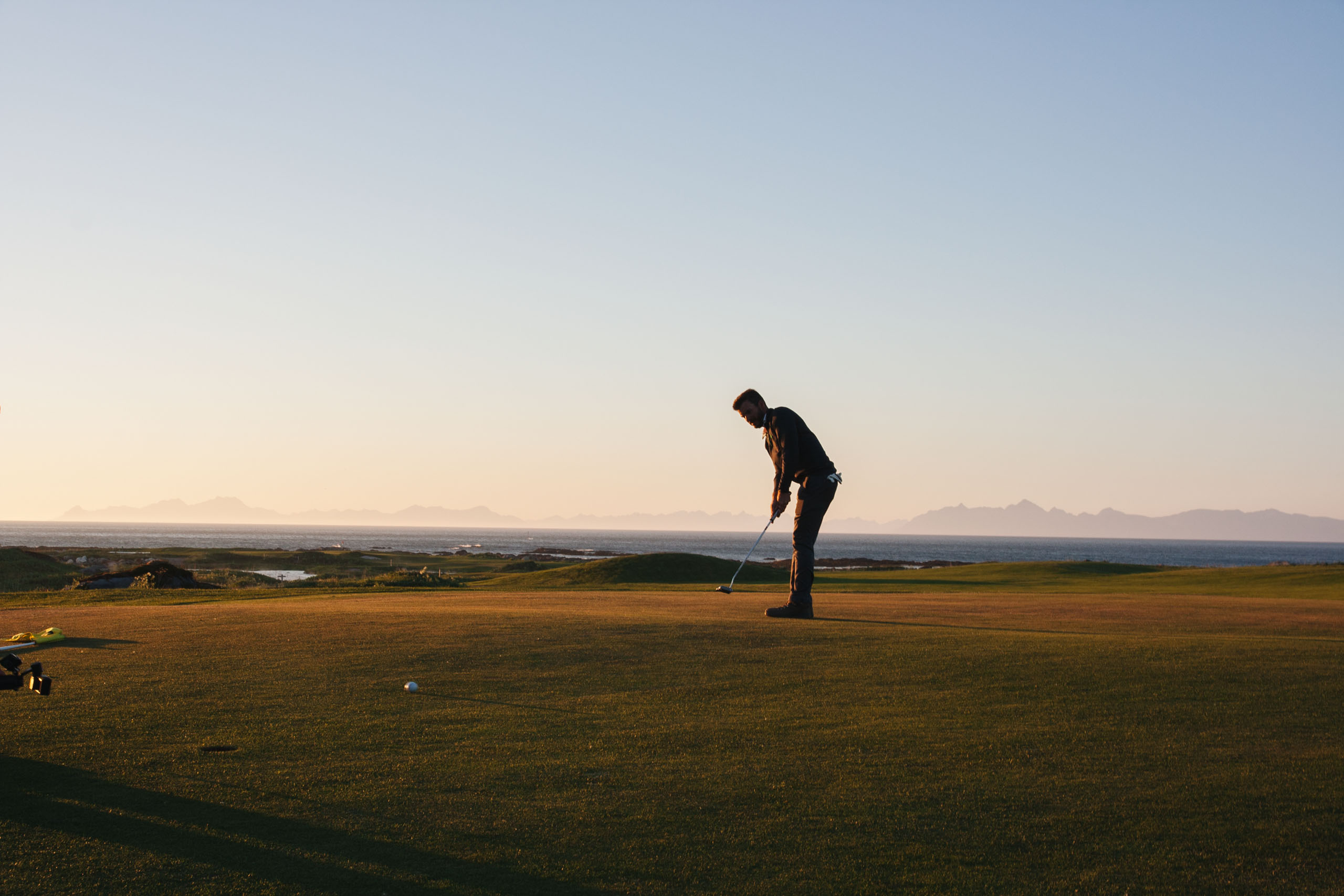 Solomon at Lofoten Links