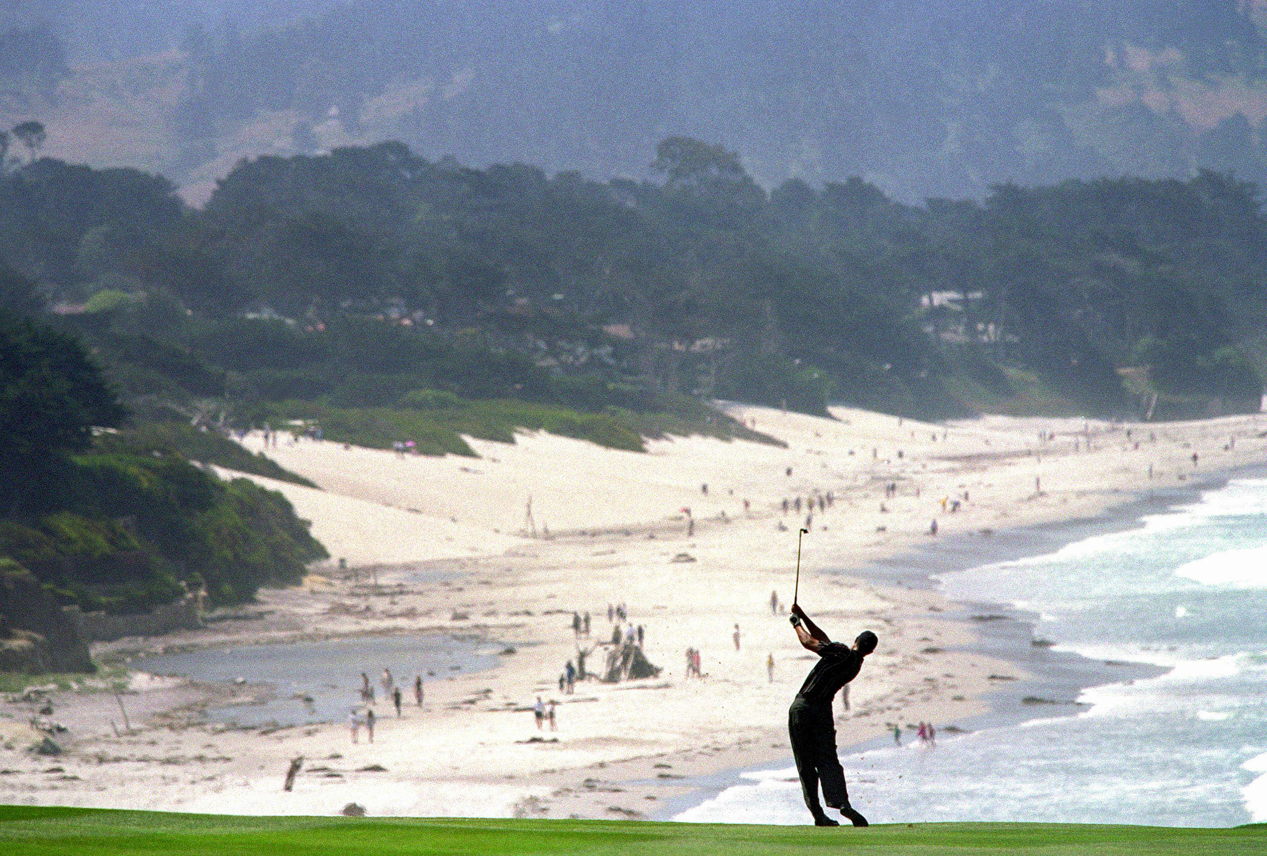 More than a century after the hypnotizing Northern California terrain caught the eye of a lovesick voyager, Tiger Woods also fell for its sightlines, leading to his historically dominant display at the 2000 U.S. Open. Photo by Jamie Squire/Getty Images