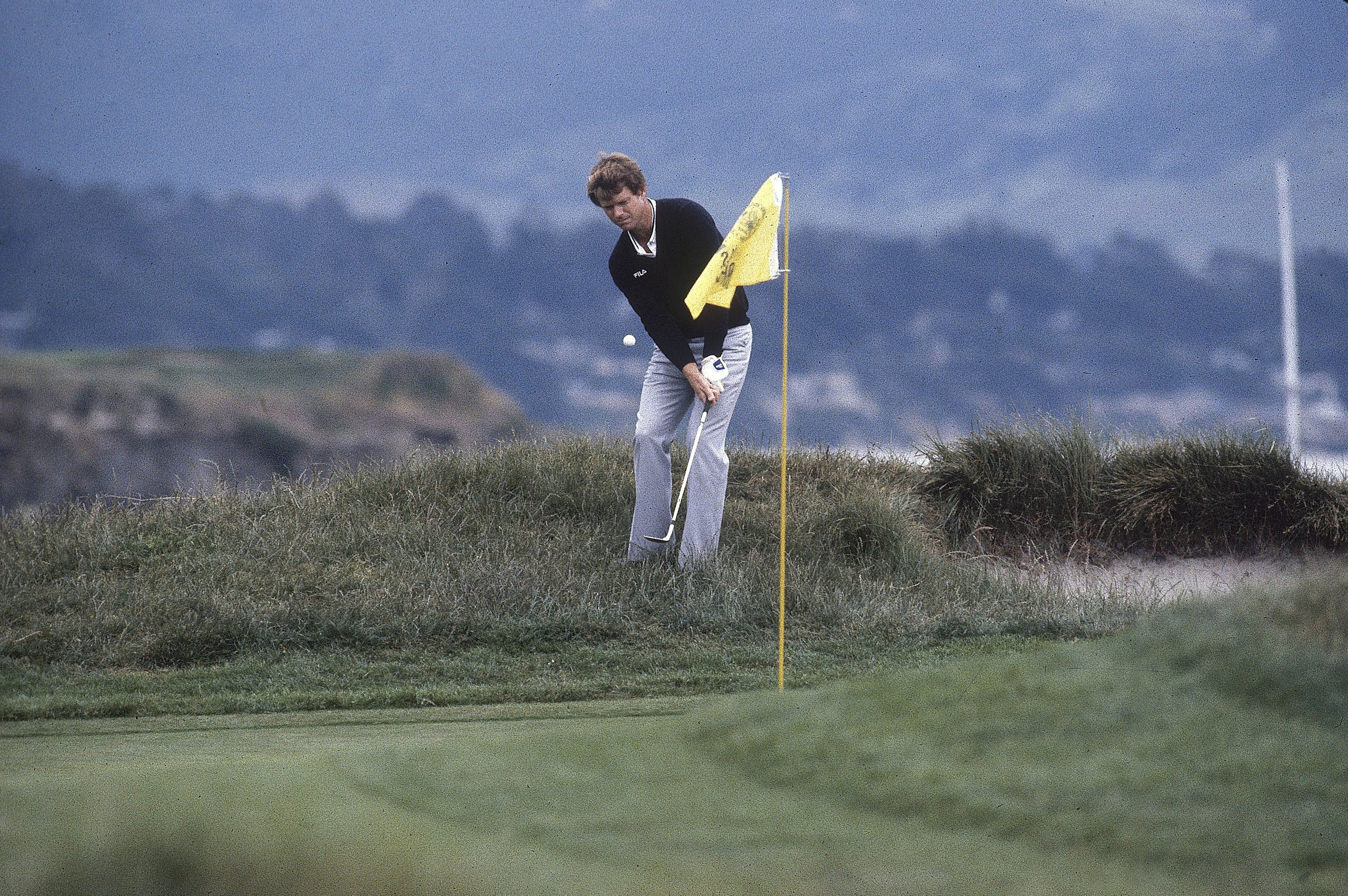 Decades later, the scene of Watson's stunner to snatch the Open from Nicklaus remains fresh in the author's mind. It's become his hallowed ground: He's never on 17 Mile Drive long without returning to 17 green. Photo by Richard Mackson/Sports Illustrated/Getty Images
