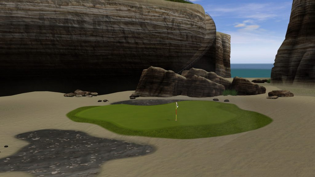Jim Zielinski's diabolical designs have graced Golden Tee monitors for 30 years running, with each annual wave of courses more imaginative than the next. Images courtesy of Incredible Technologies