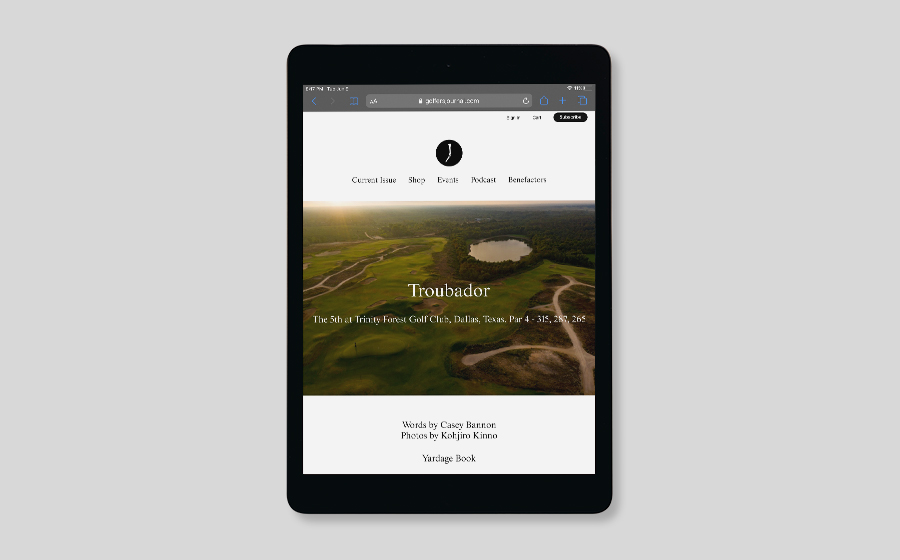 The Golfer's Journal Digital Subscription