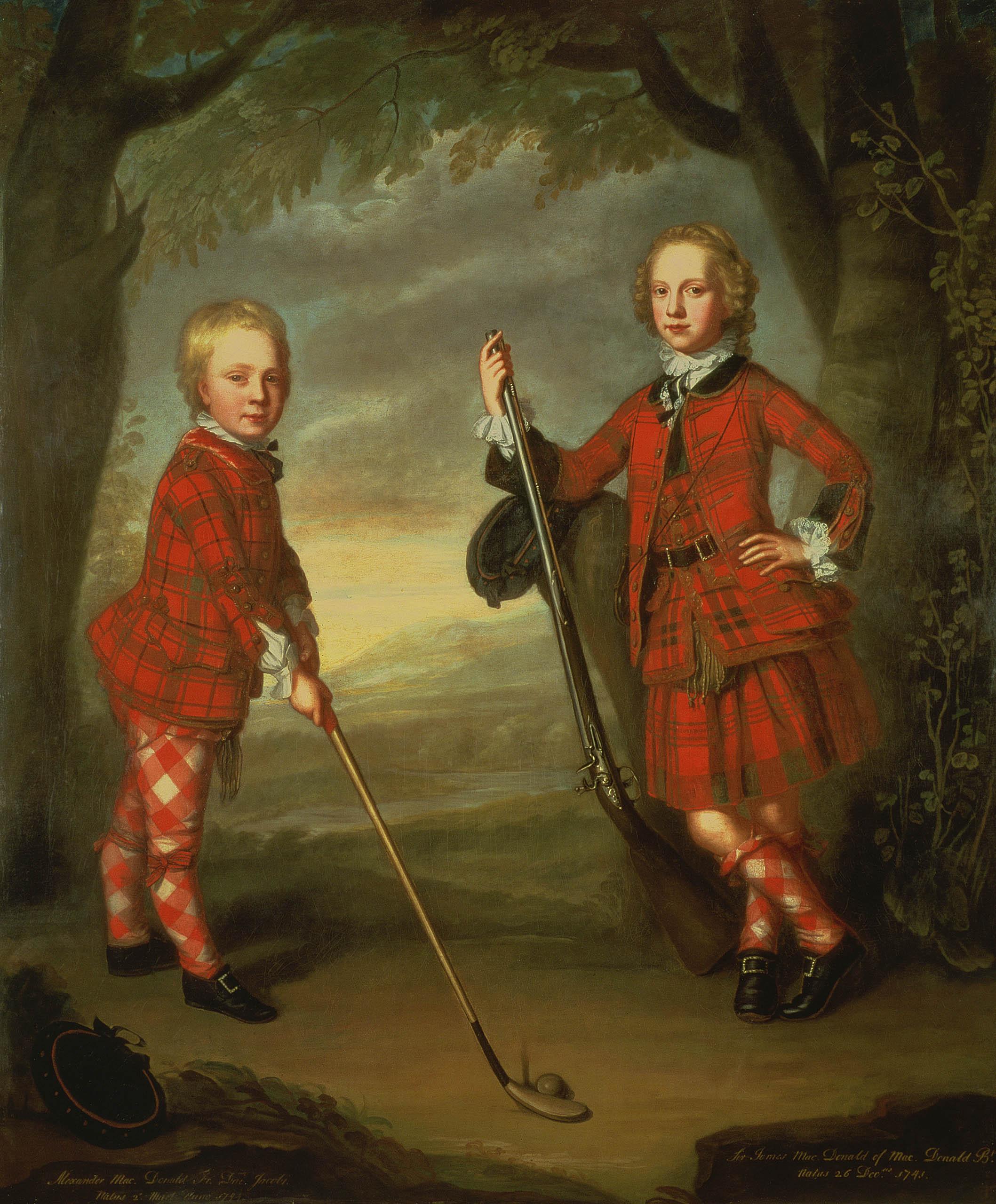 The Macdonald Boys; William Mosman; ca. 1749