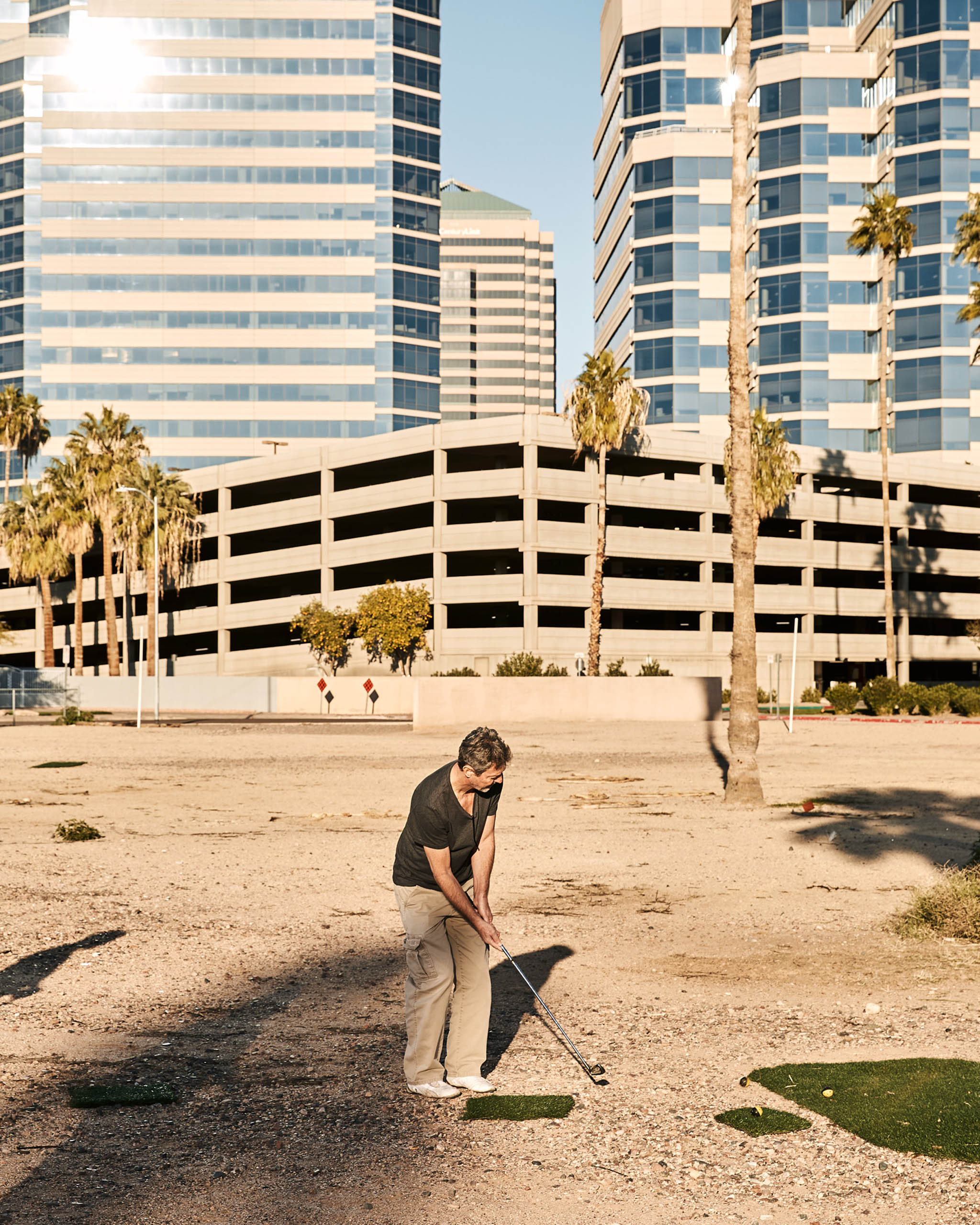 Terreno Baldío Country Club members live a golf life on the run. They pour their creative energies into each course, but know that the gravel playgrounds are never permanent.