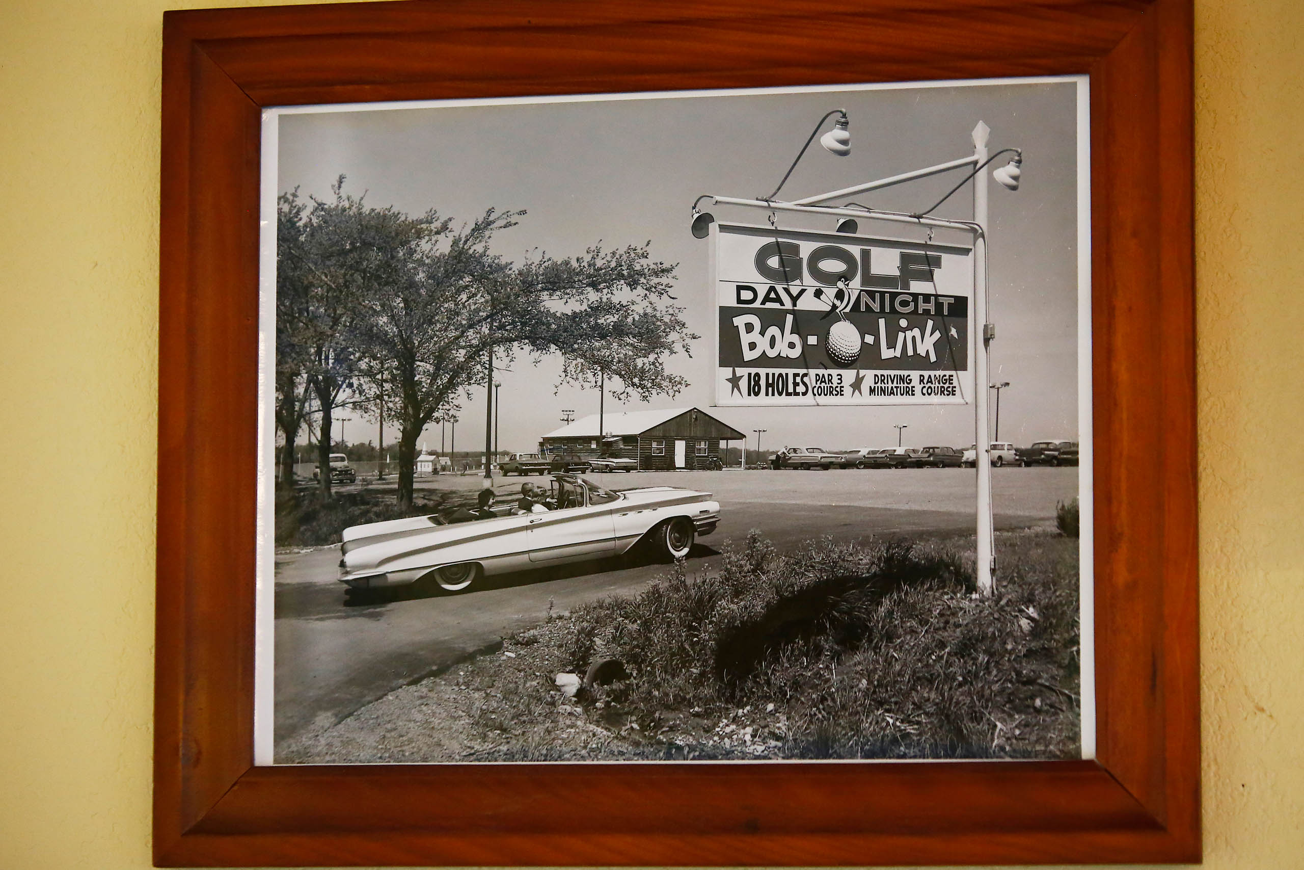 An old photo of the Bob-O-Link golf course hangs inside the clubhouse on Friday September 20, 2019 in Orchard Park, New York. (Photo by Jared Wickerham/Golfers Journal)