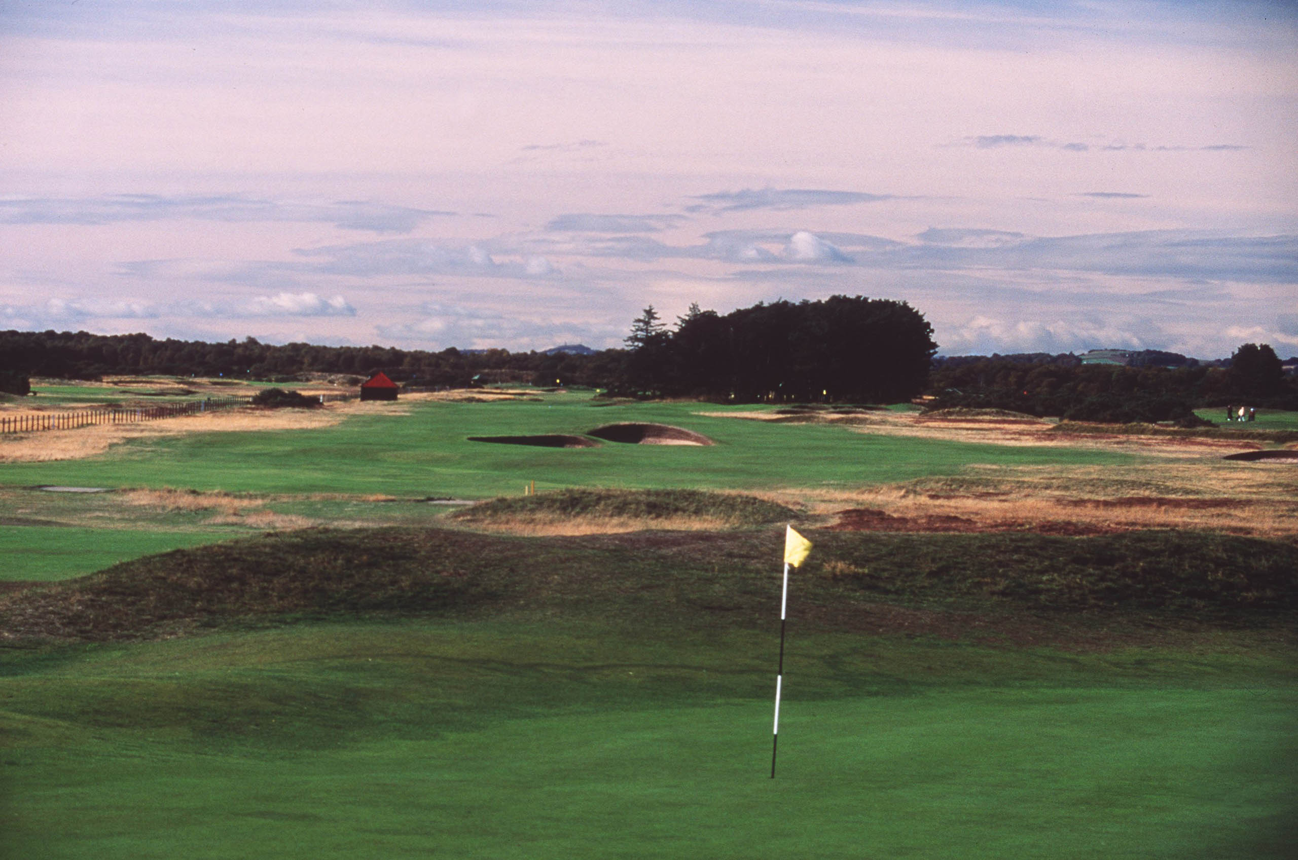 Even from a distance, courses like Carnoustie provide an escape. Photo by David Cannon/Allsport