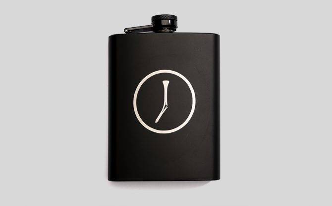 The Golfer's Journal Flask
