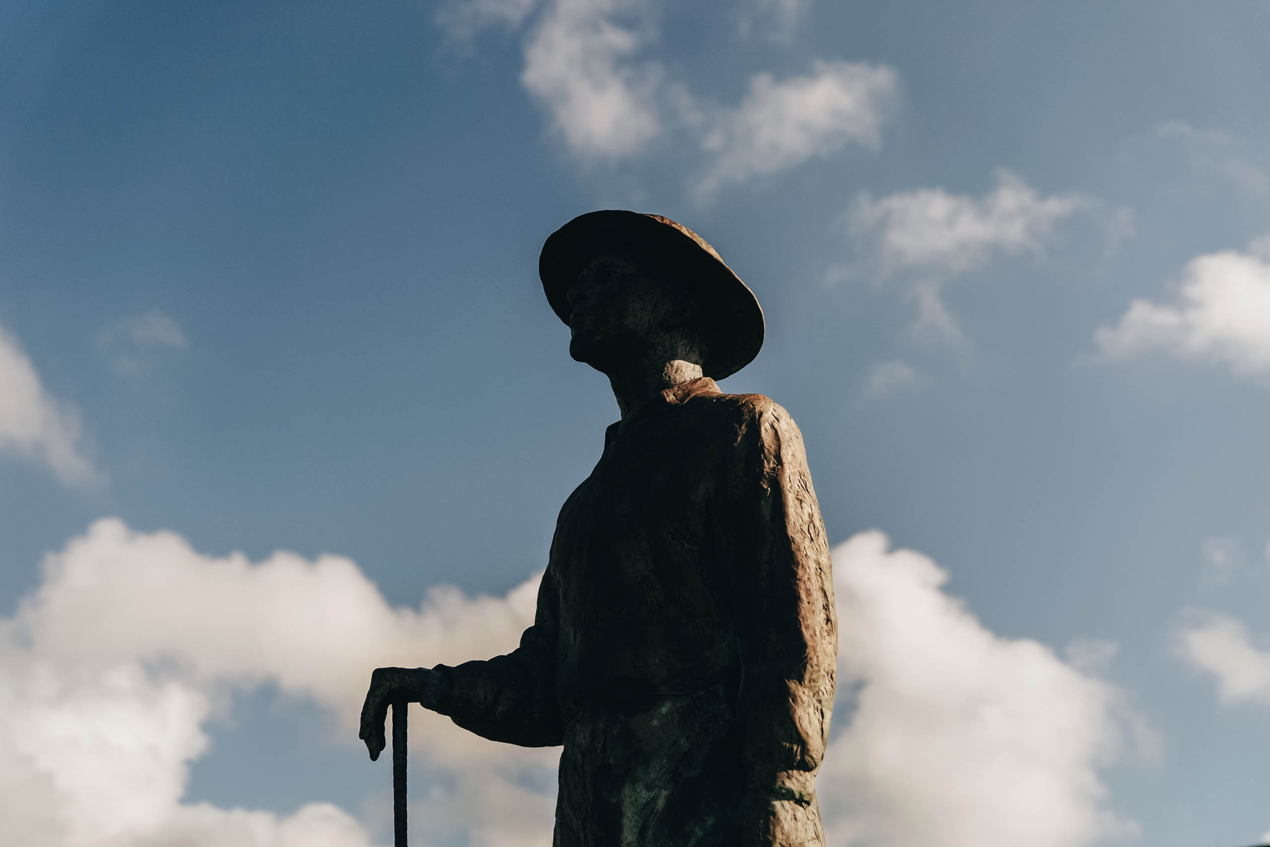 A statue of Black golf-course architect Joseph Bartholomew looks over the New Orleans design bearing his name.
