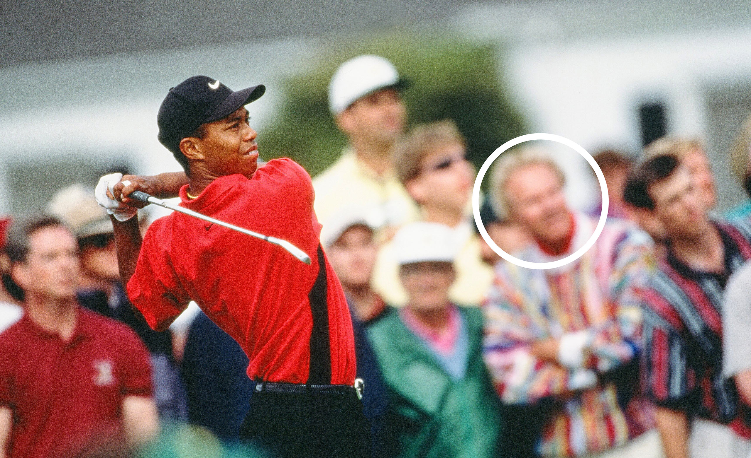 Tiger Woods Swings During The Final Round Of The 1997 Masters Tournament (Photo by Augusta National/Getty Images)