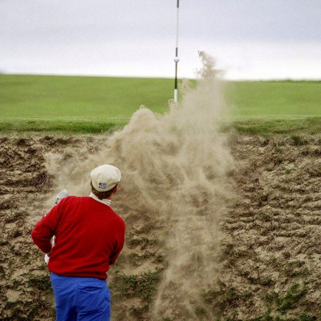 Payne Stewart, Open Championship, Bunker shot