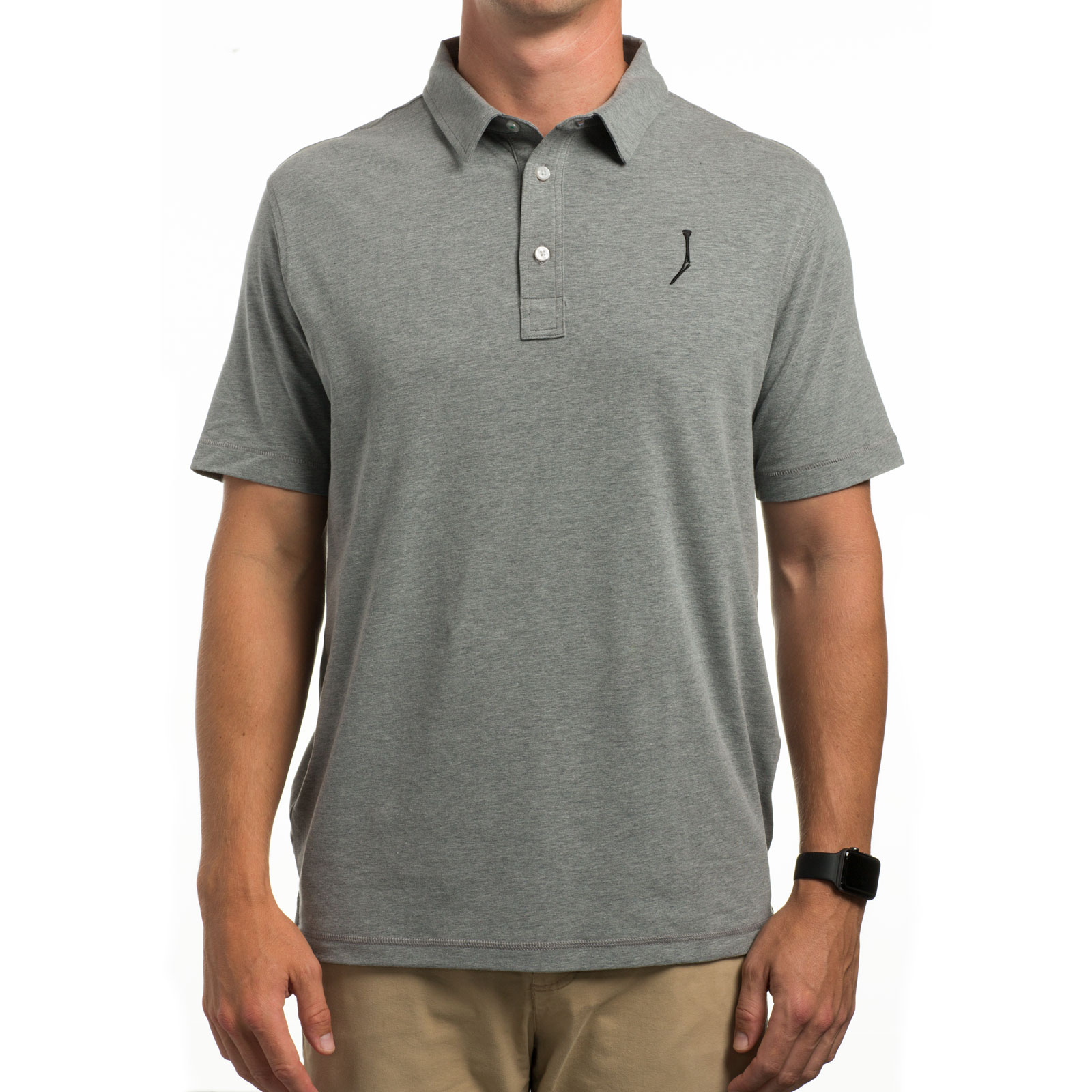 TGJ x Linksoul Men's Drytech Polo - Gray