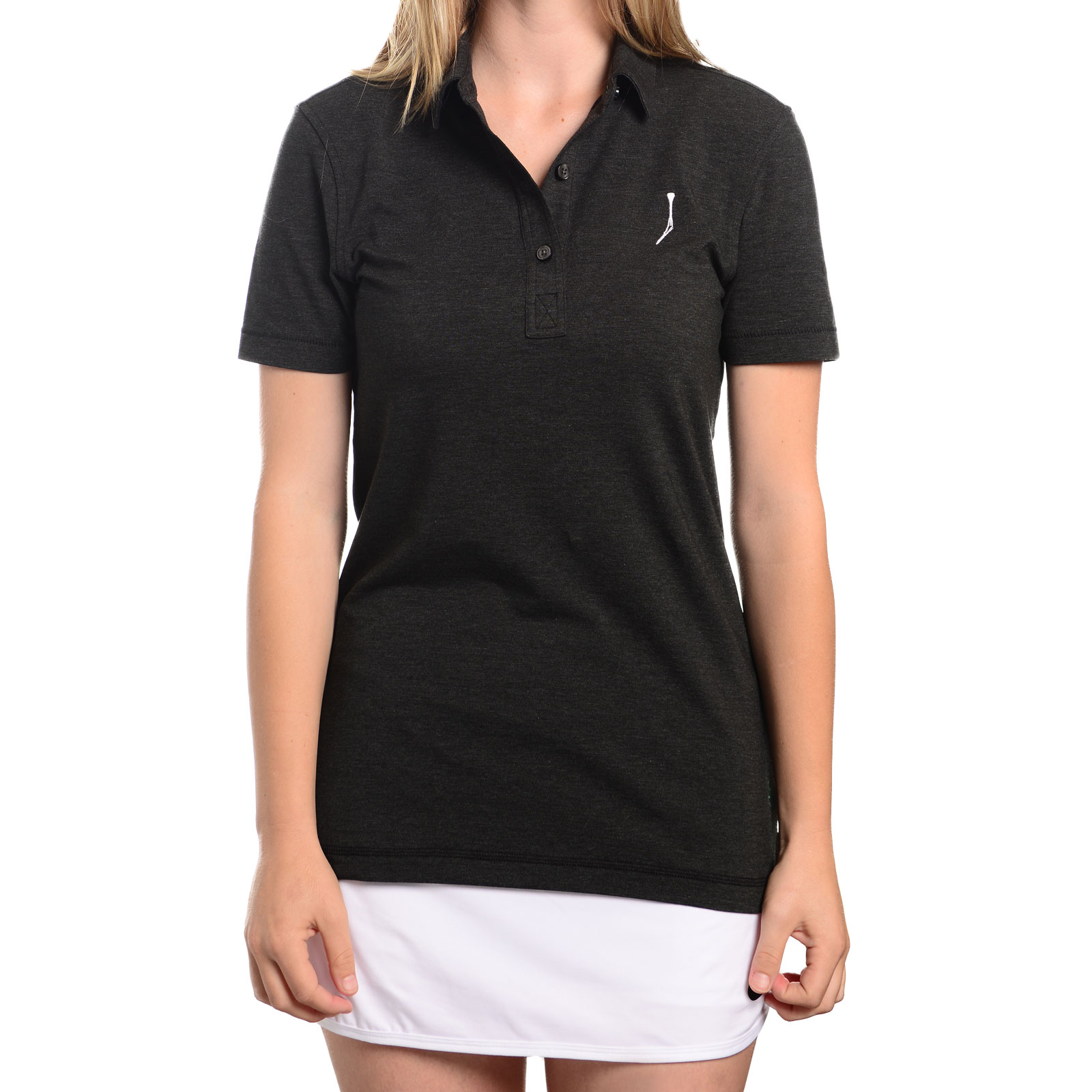 TGJ x Linksoul Women's Drytech Polo - Gray