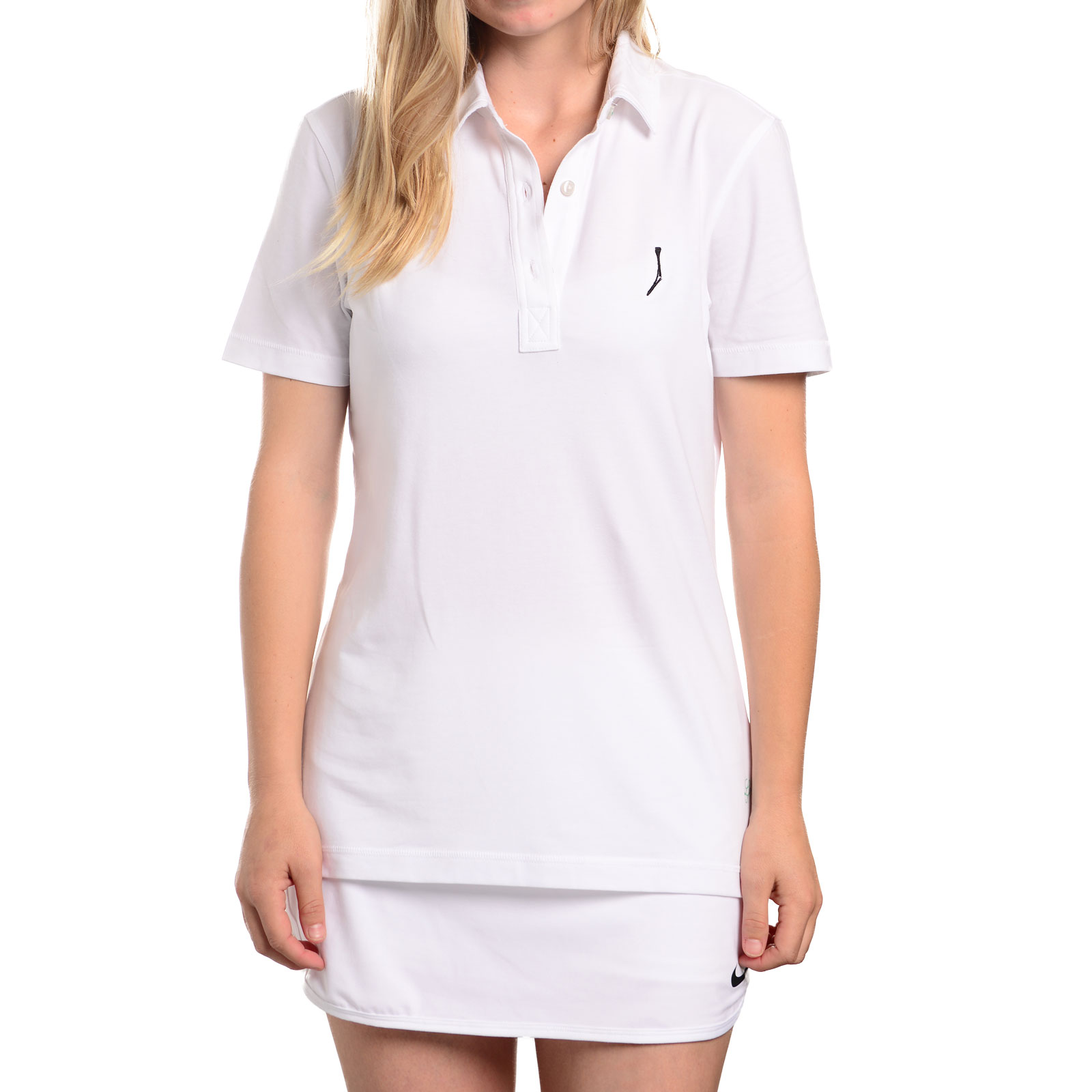 TGJ x Linksoul Women's Drytech Polo - White