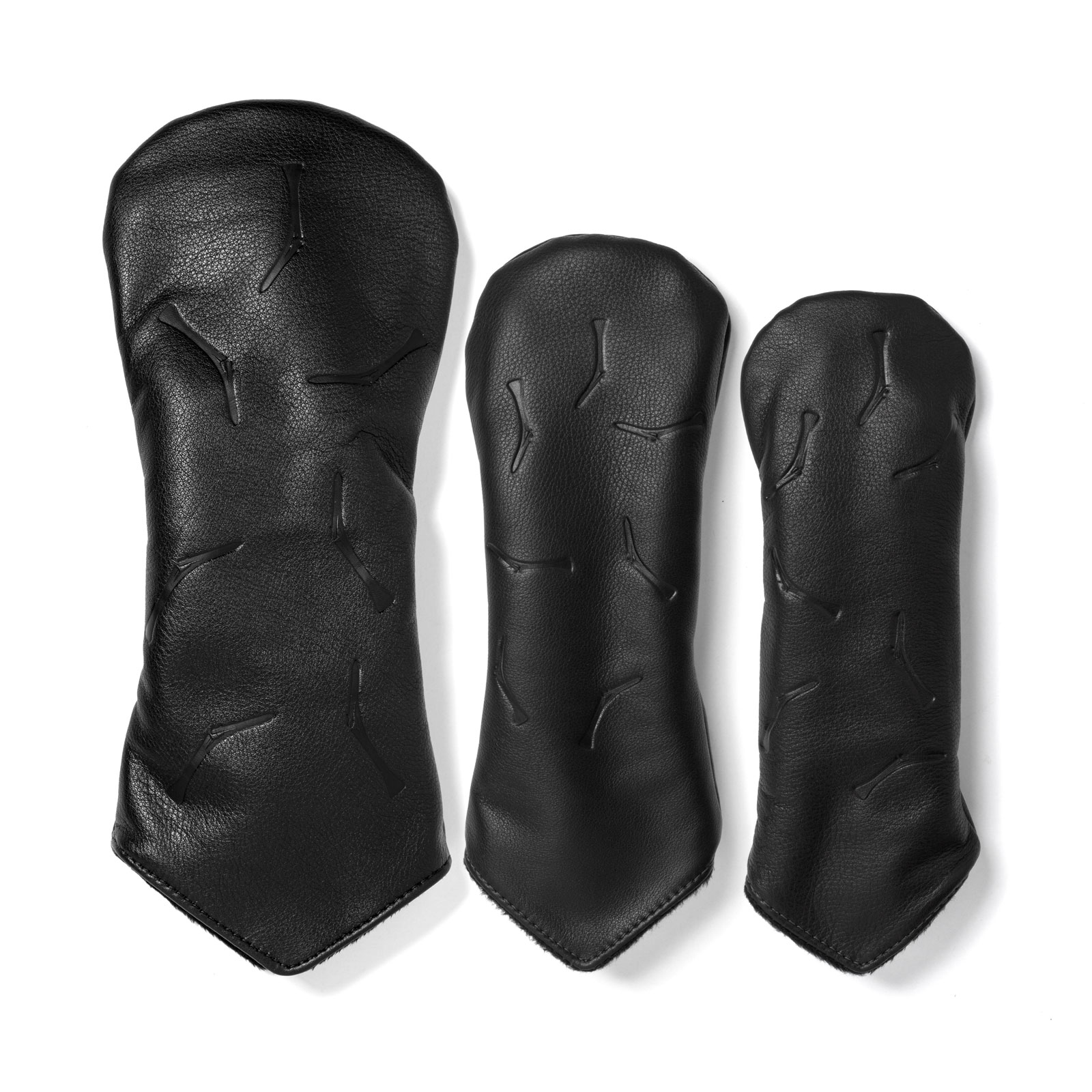 TGJ x Links & Kings Broken Tee Leather Headcovers - Black