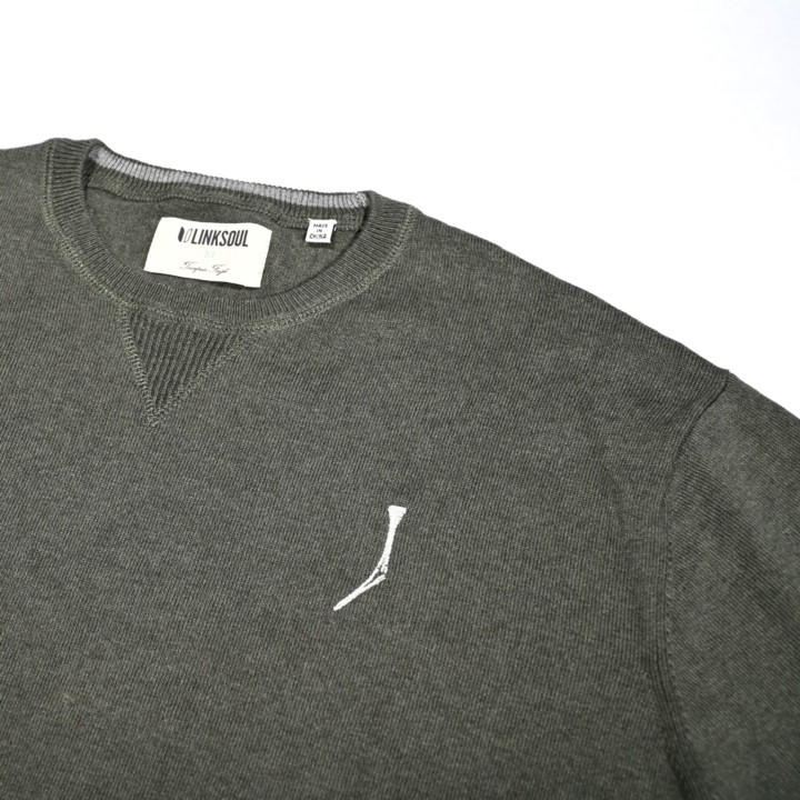 TGJ x Linksoul Cotton-Cashmere Sweater Green