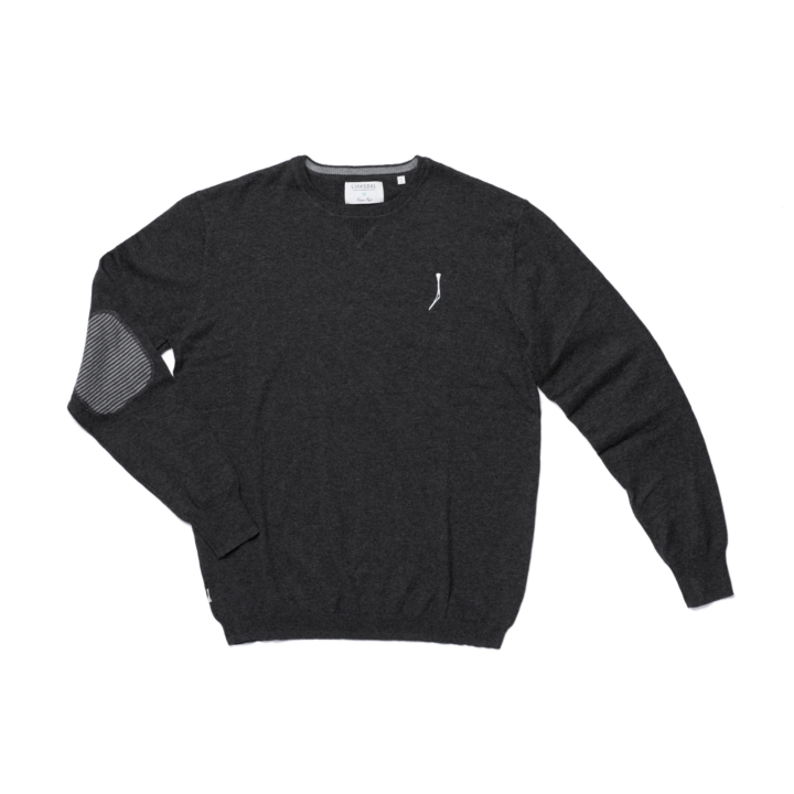 TGJ x Linksoul Cotton-Cashmere Sweater Black Heather