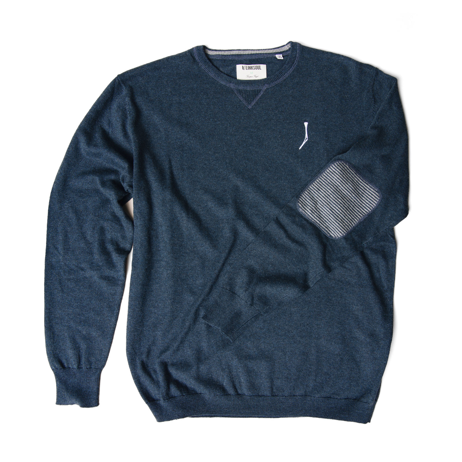 TGJ x Linksoul Cotton-Cashmere Sweater Navy