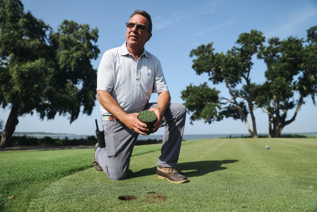 Berry Collett says that Mother Nature is showing his team that Sea Island should go to full paspalum.