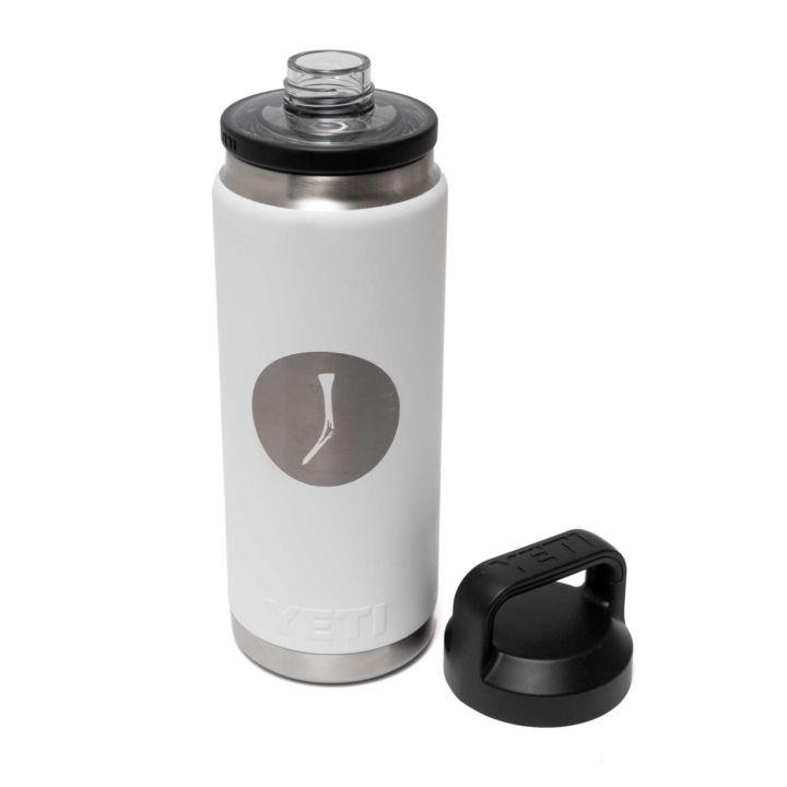 TGJ x YETI Rambler Bottle With Chug Cap - White